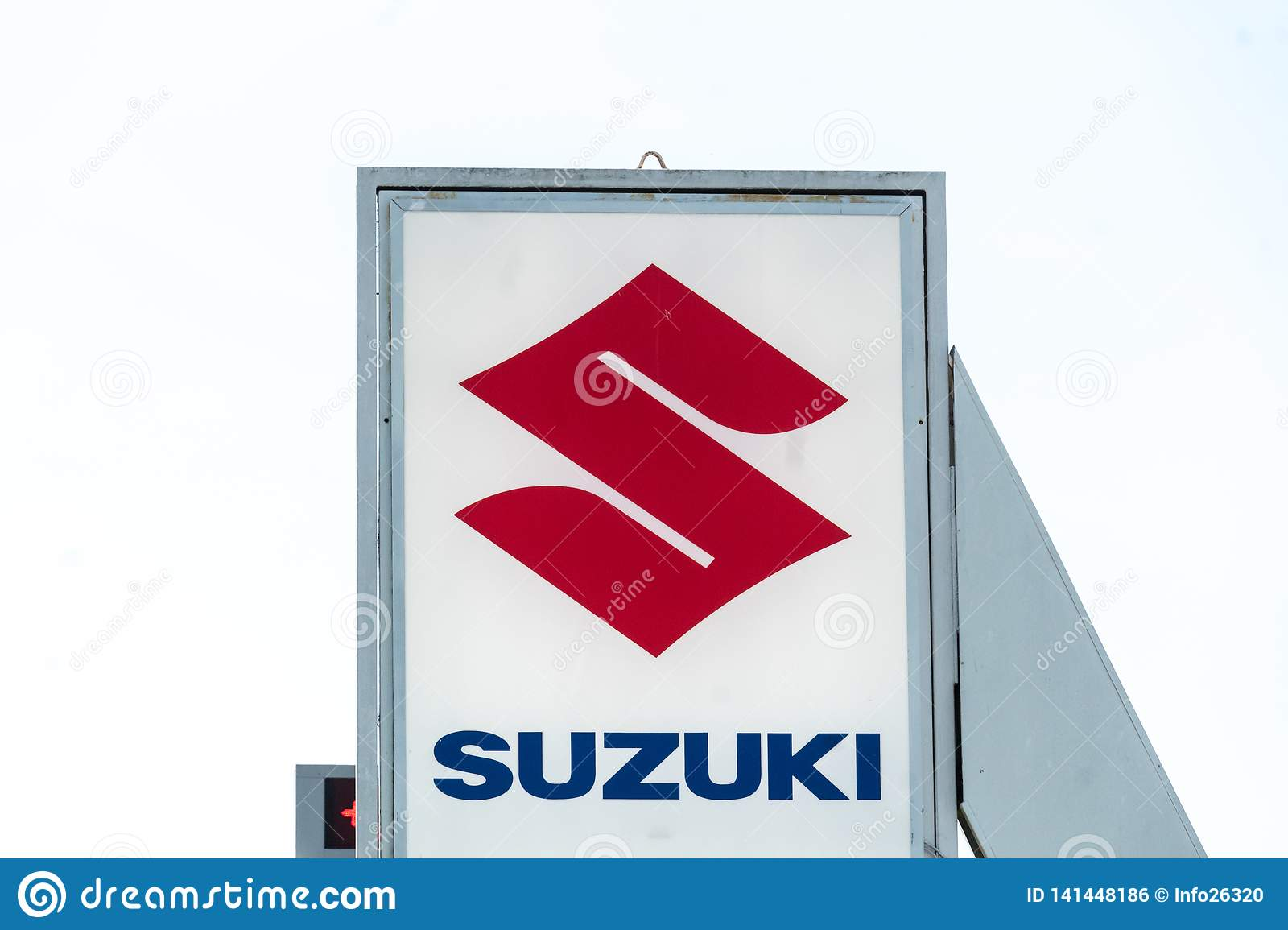 Suzuki Car Dealership >> Suzuki Car Dealership Sign Editorial Photo Image Of