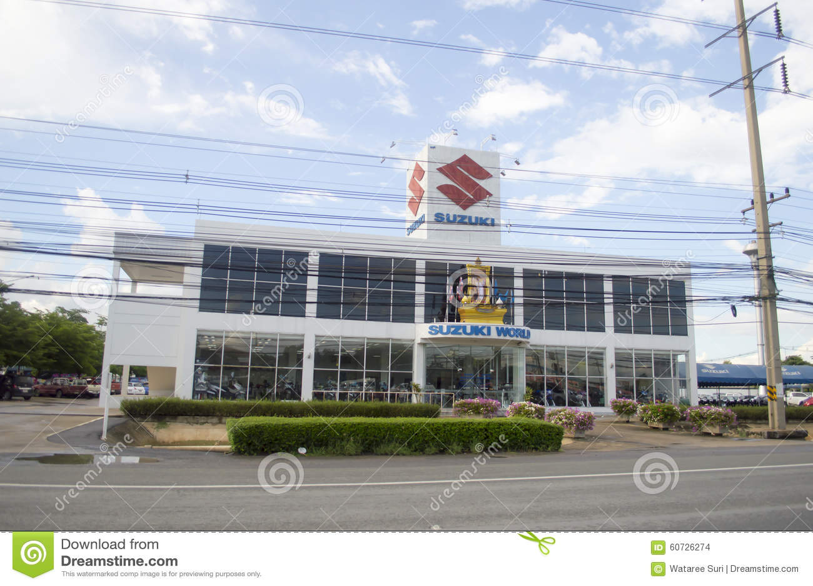 Suzuki Car Showroom And Service Center Editorial Stock Image Image