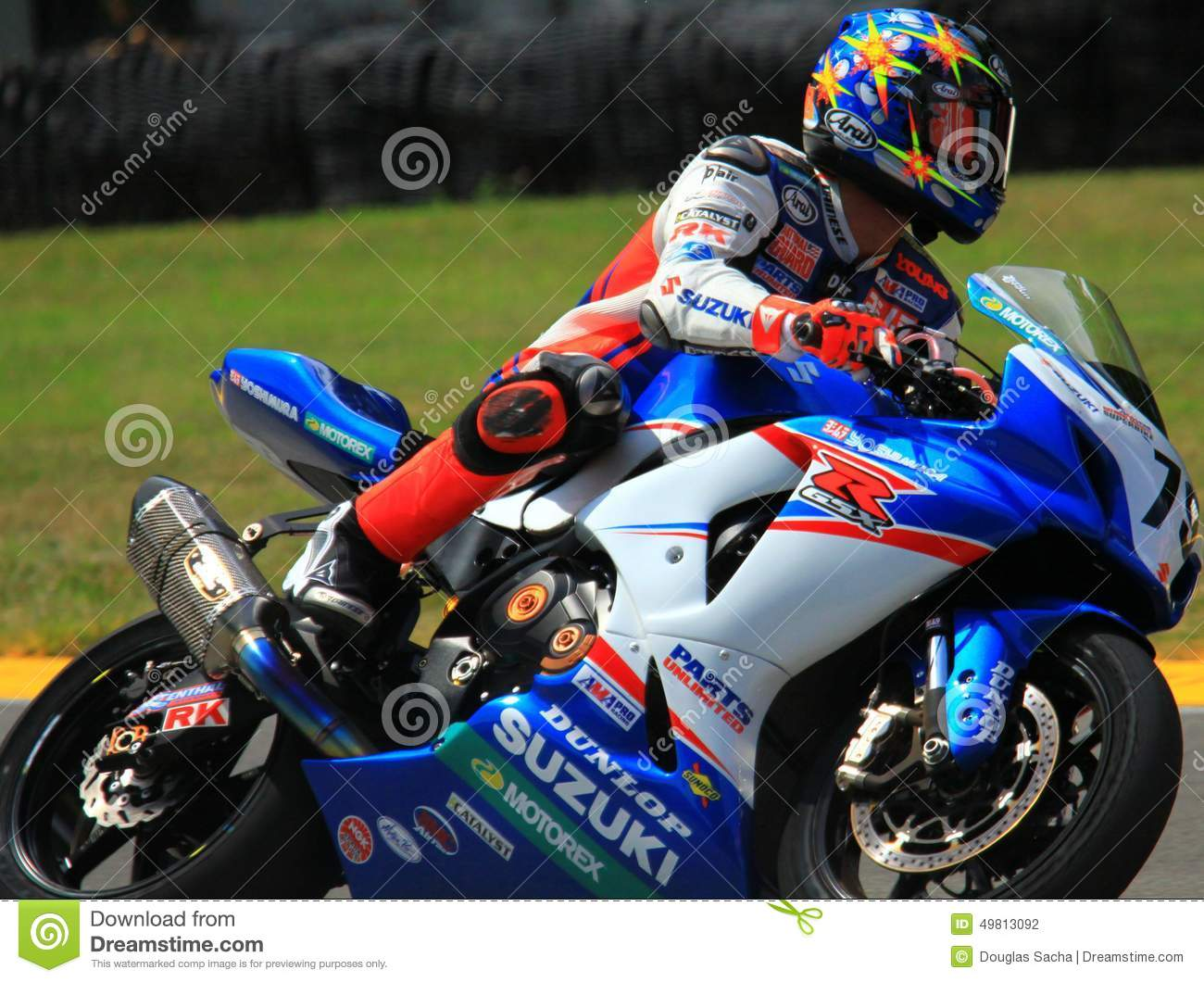 Suzuki racing editorial photography. Image of motogp - 49813092