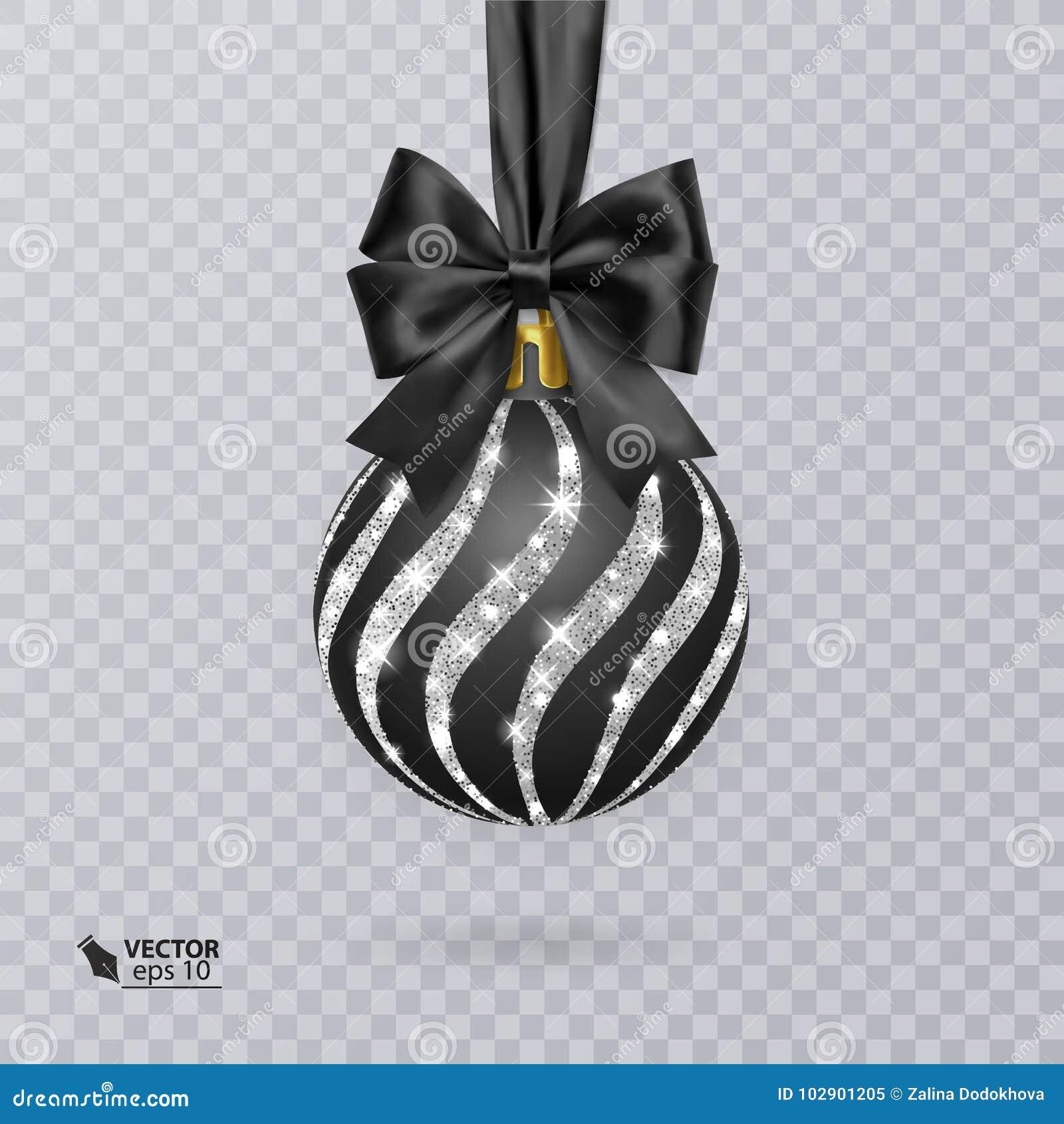 Svärta jul klumpa ihop sig dekorerat med en realistisk svart pilbåge