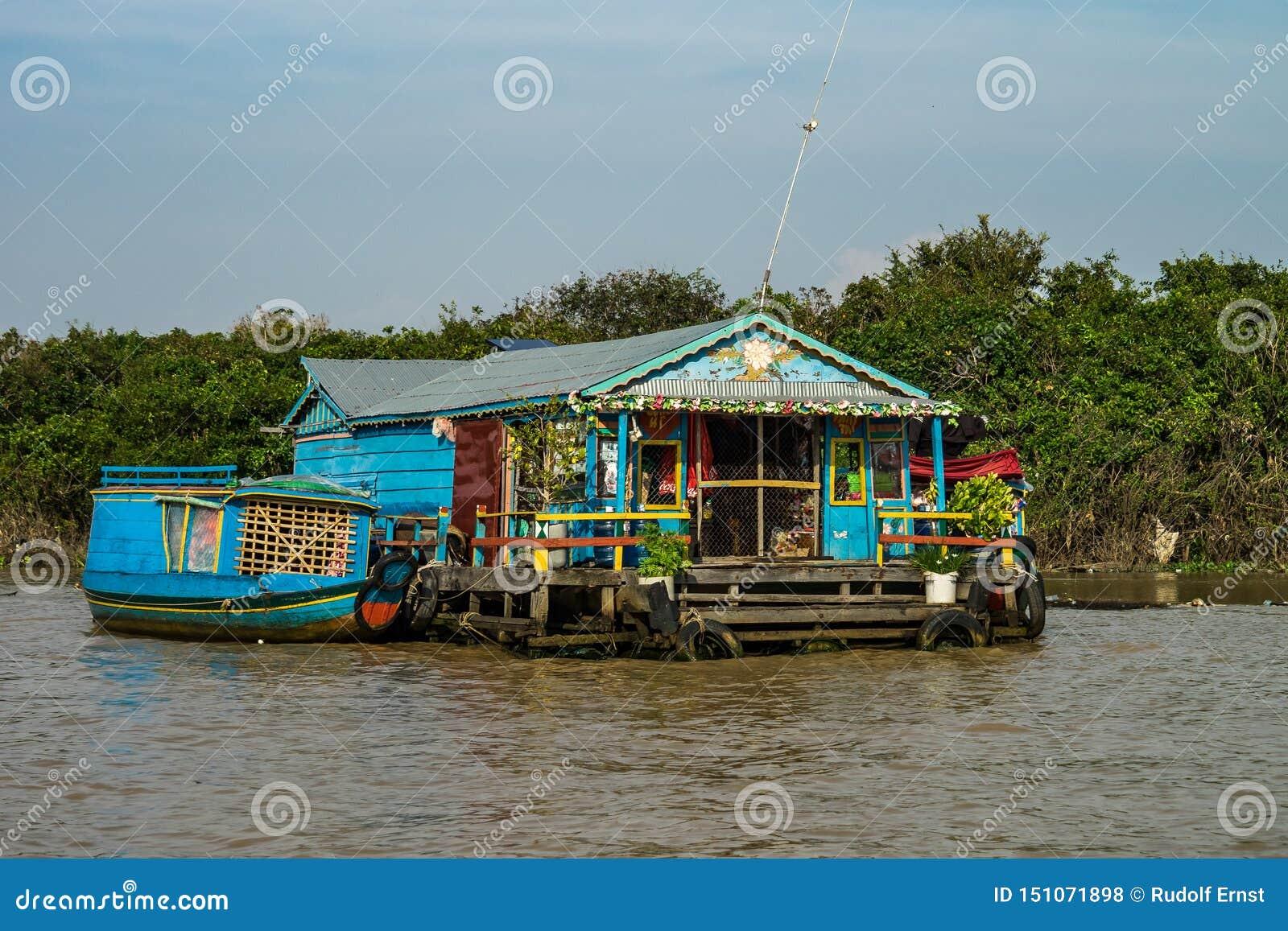 Sv?va byn, underminerar Cambodja, Tonle, den Koh Rong ?n