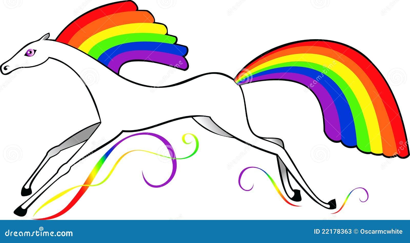 Svan för hästmaneregnbåge