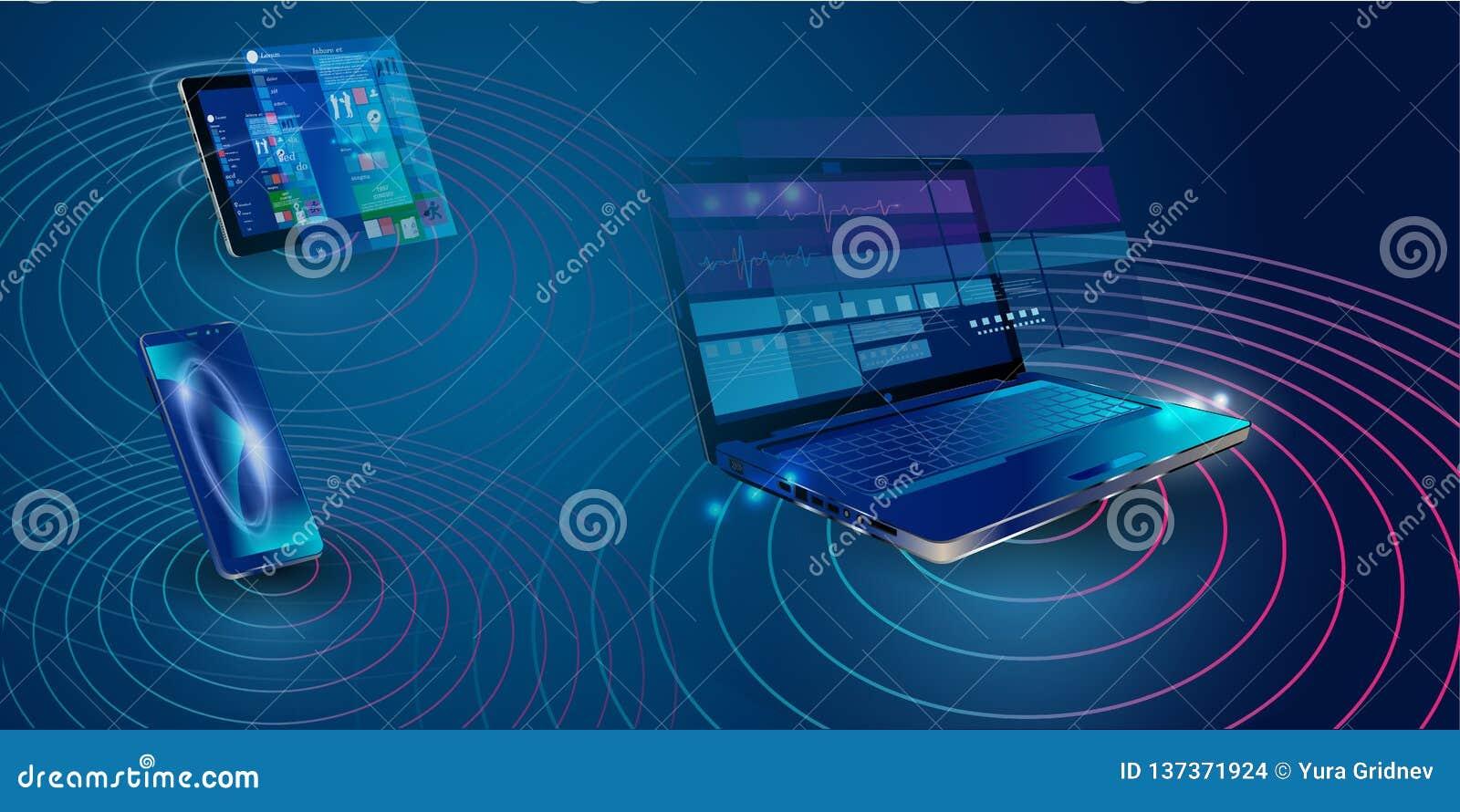 Svars- internetwebsite för skapelse för åtskilliga plattformar Byggande mobil manöverenhet på skärmen av bärbara datorn, minnesta