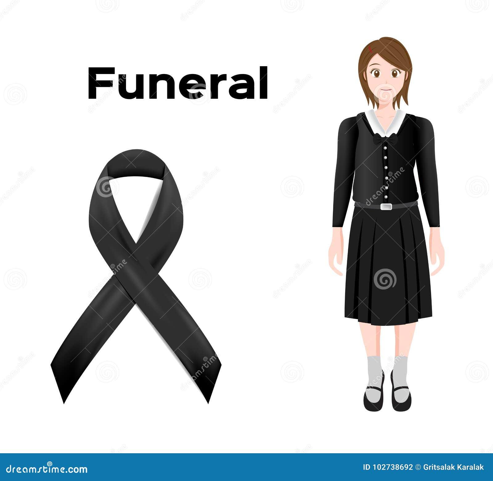klänning till begravning