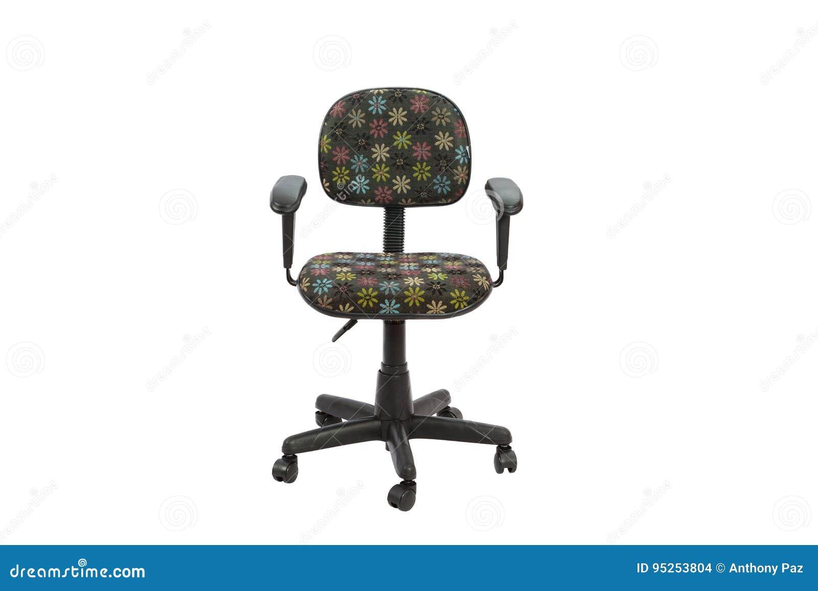 Svart blom- kontor en stol