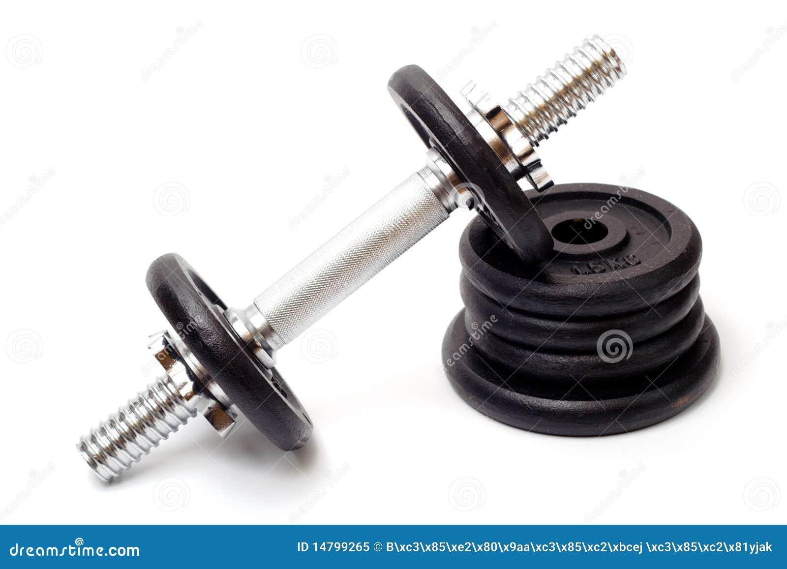 Svart bodybuildinghantelutrustning