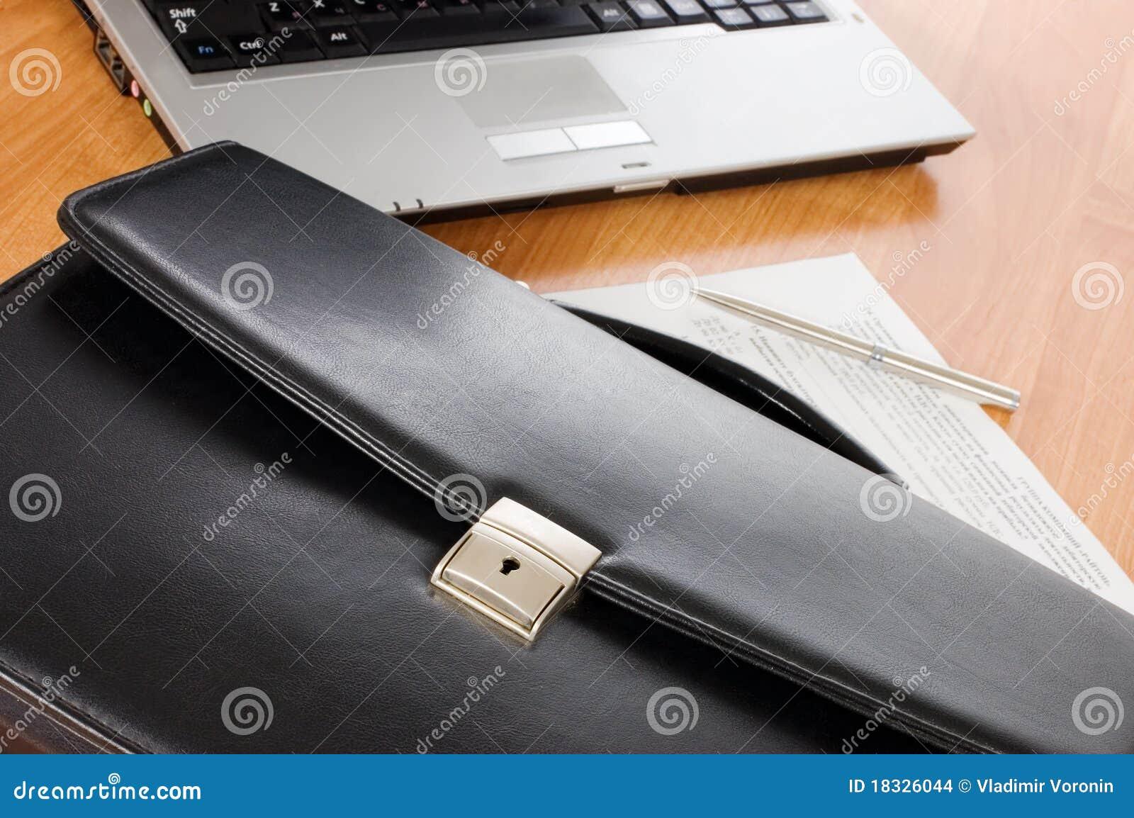 Svart datorportfölj