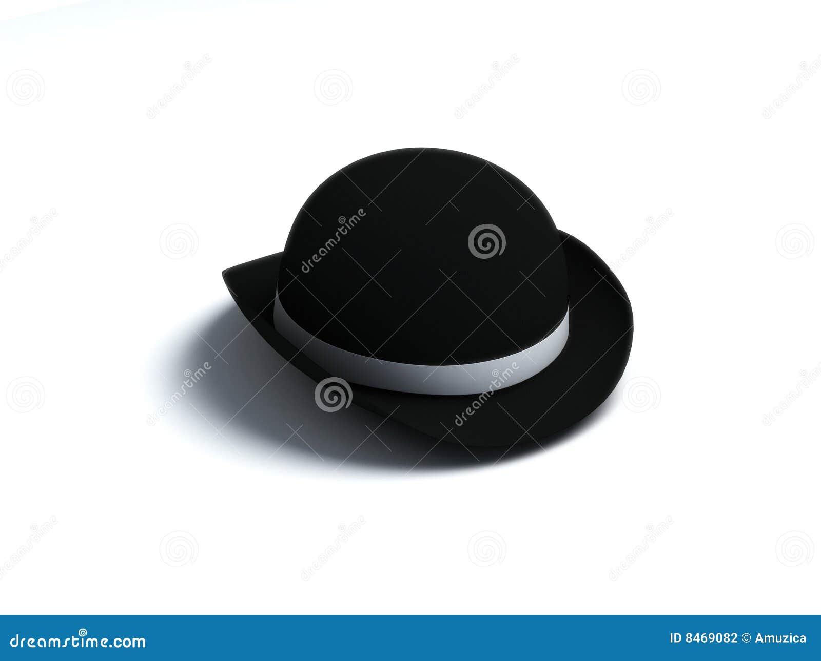 Svart derby hatt