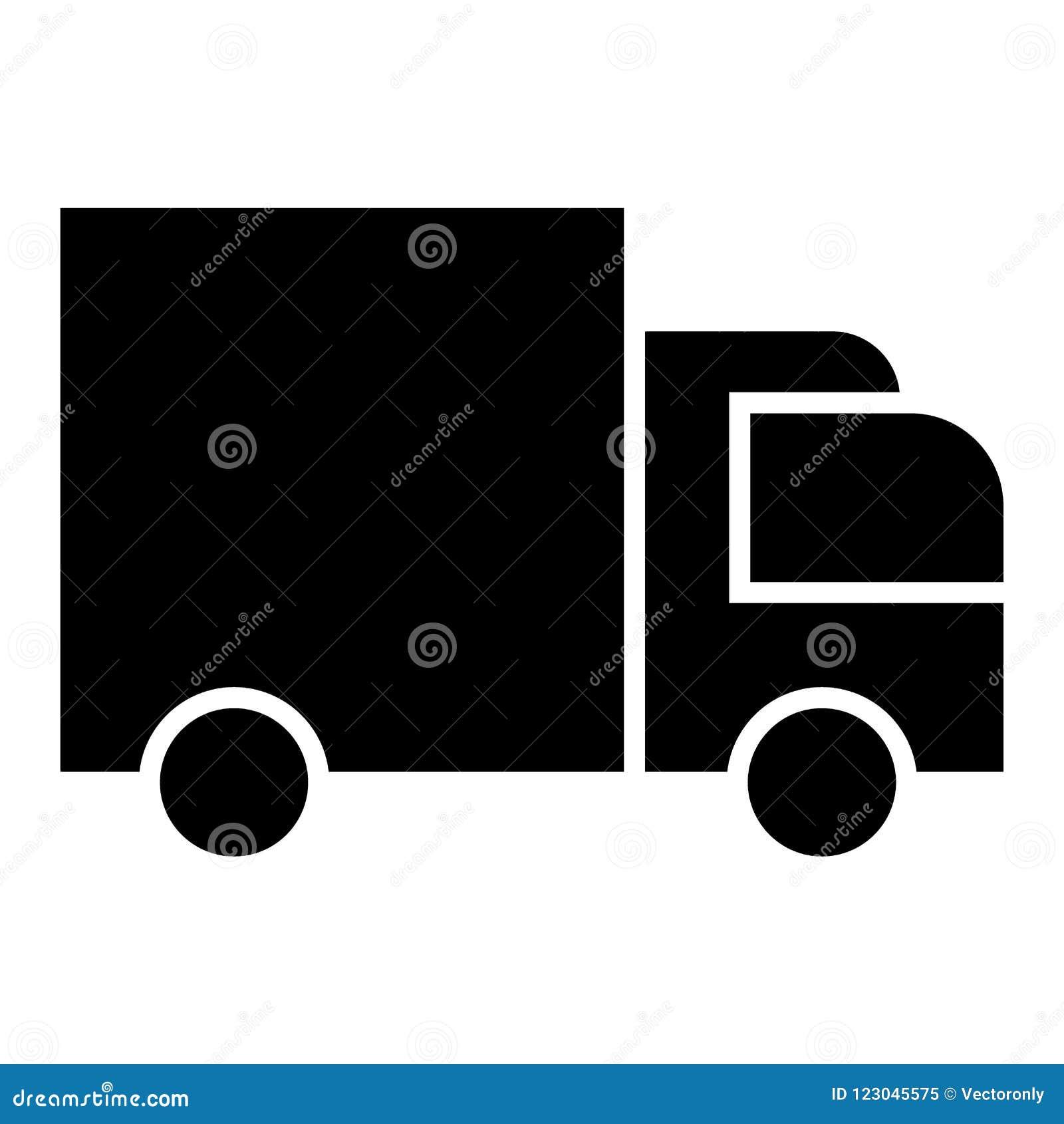 Svart för symbol för leveransskåpbil