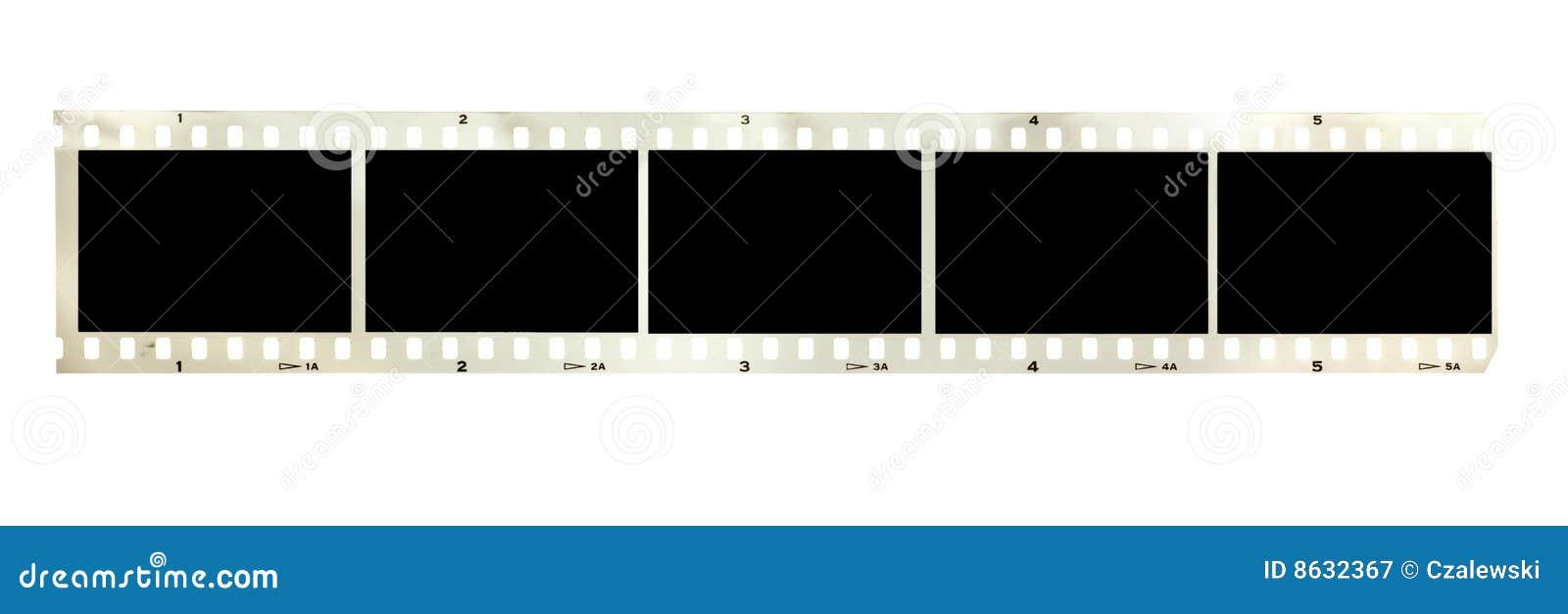 Svart filmstrip isolerade tappningwhite