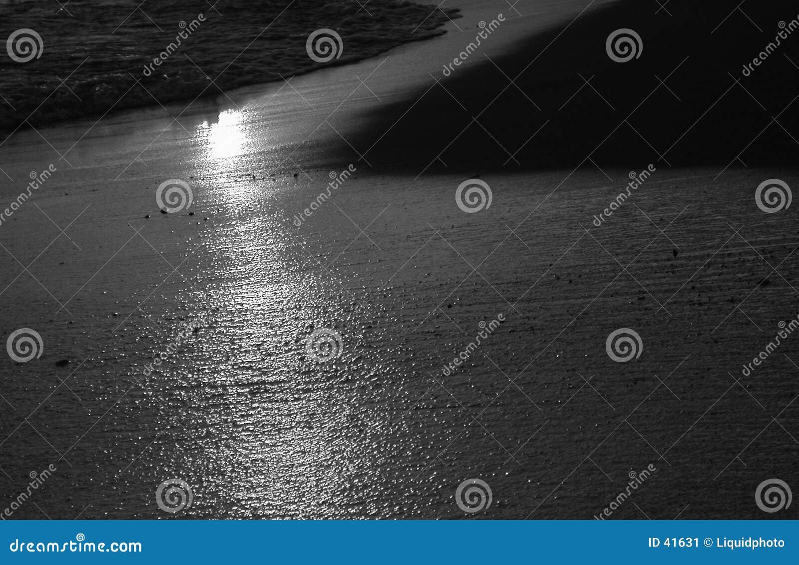 Svart hawaii för strand solnedgång