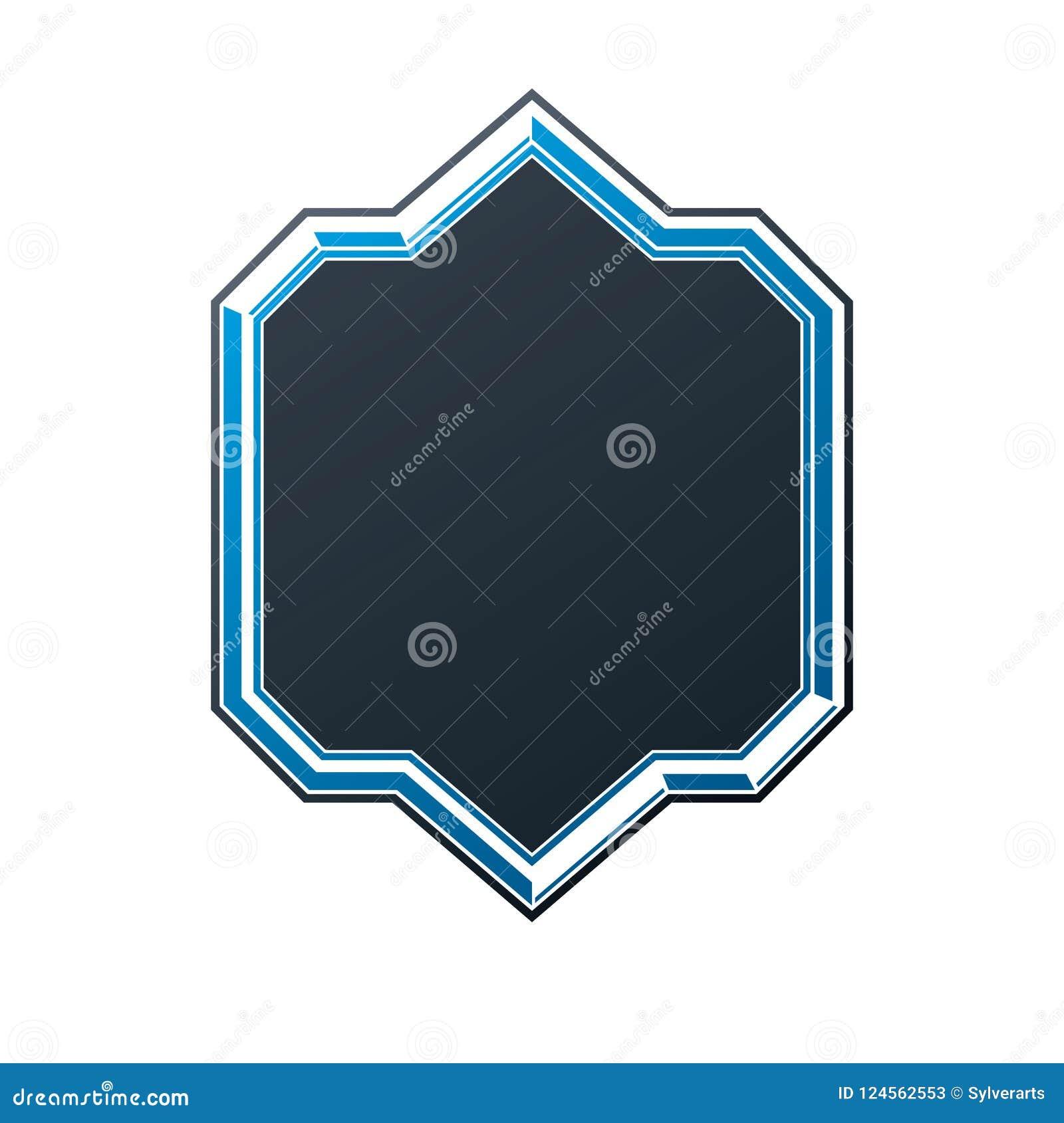 Svart heraldisk ram med kopia-utrymme, vektortappningskydd