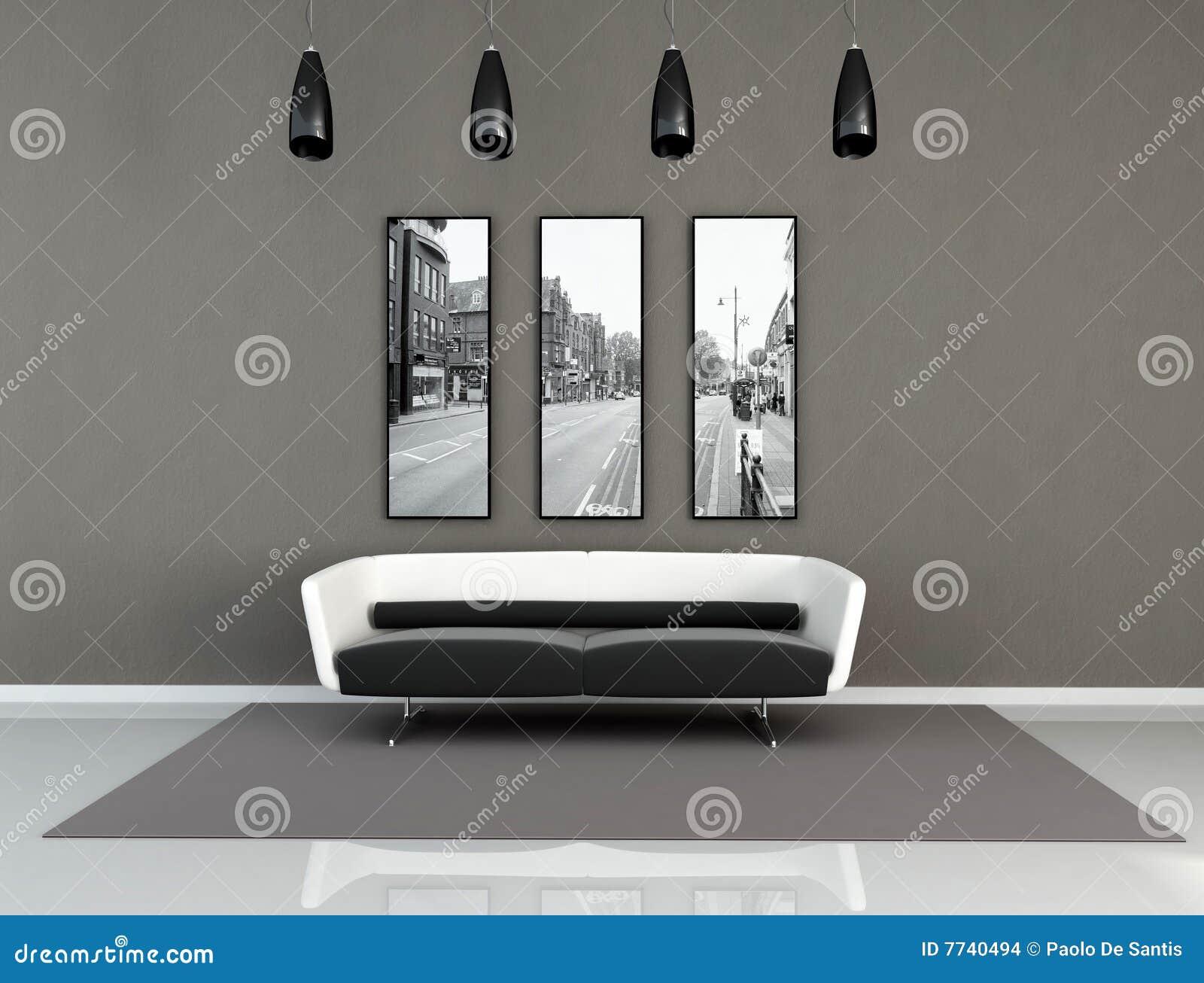 Svart inre modern white