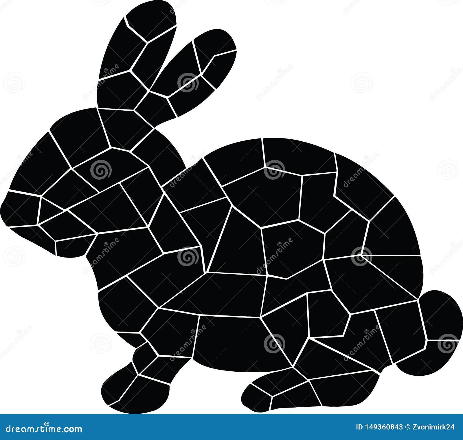 Svart kanin Gulligt litet djur _