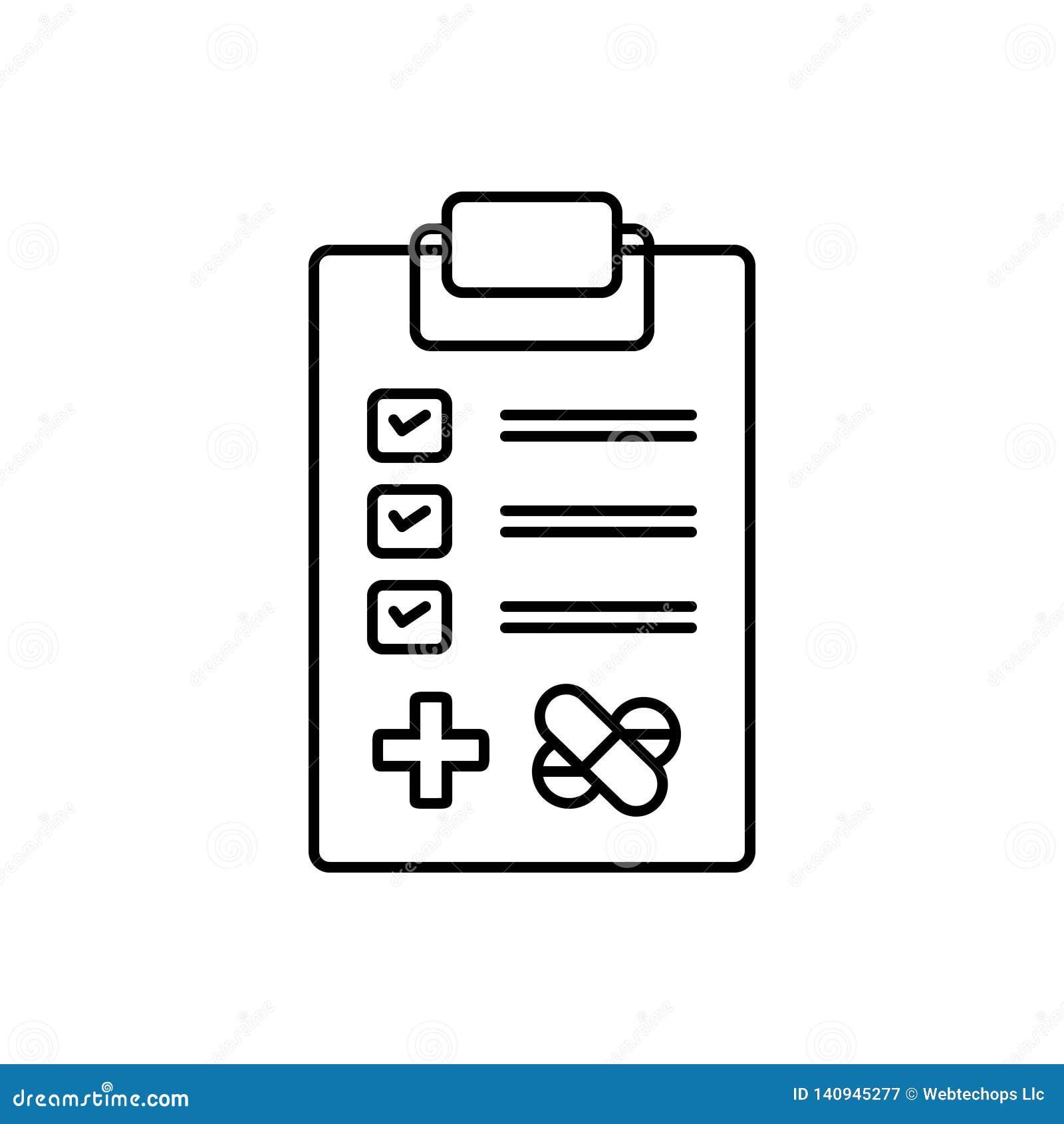Svart linje symbol för medicinska prov, utredning och forskning