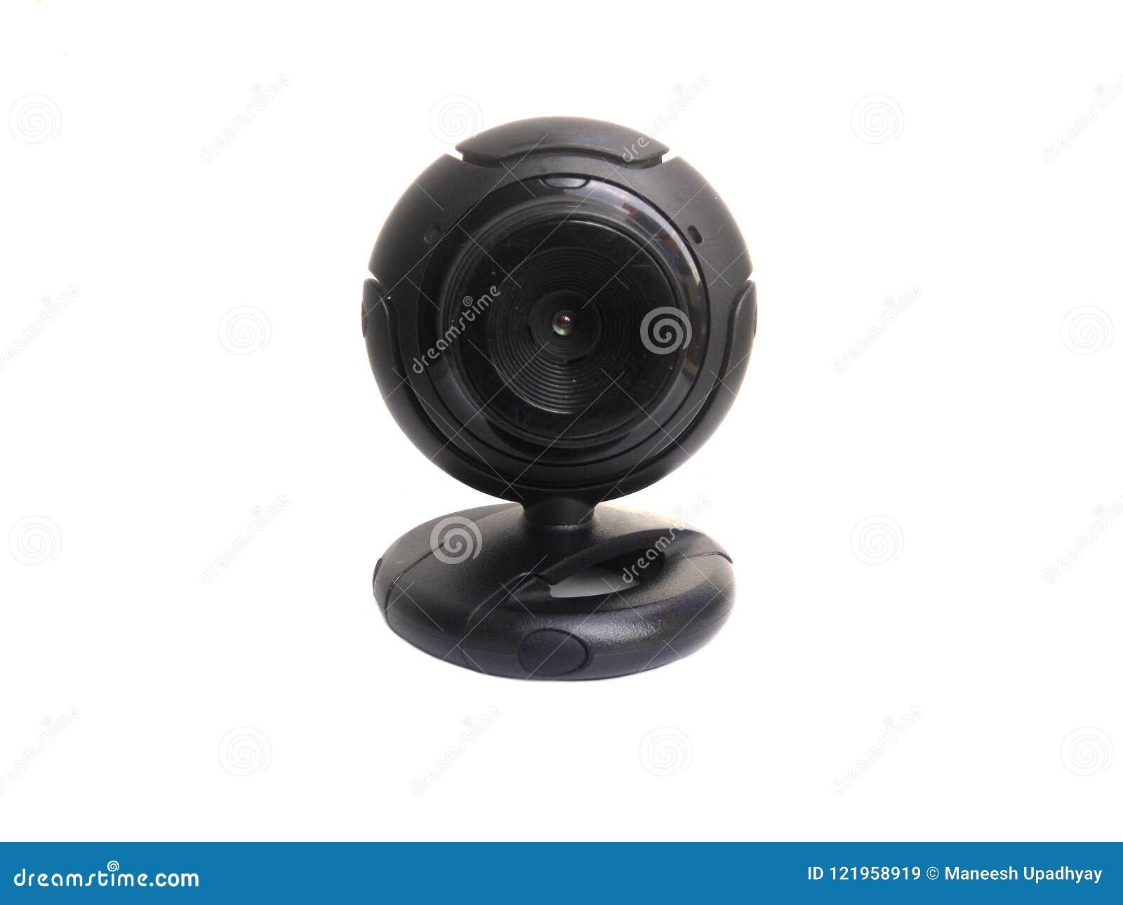 Svart liten webcam