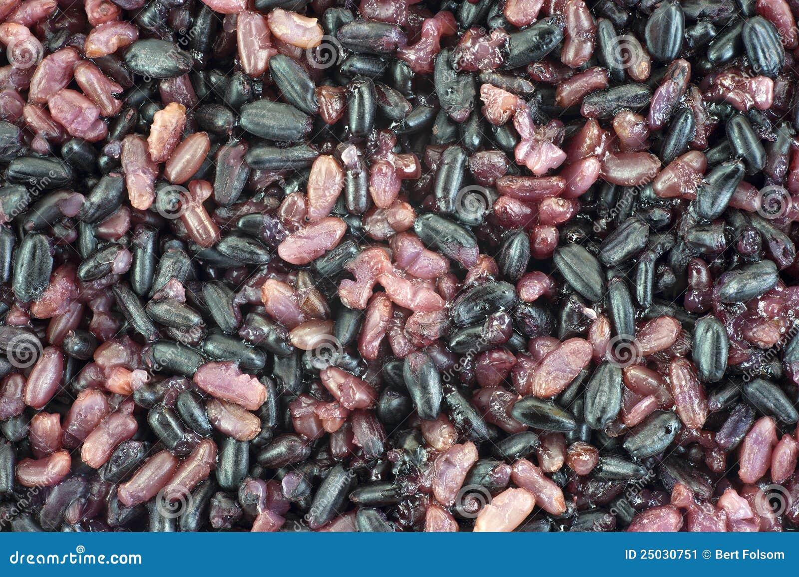 Svart pärlemorfärg rice