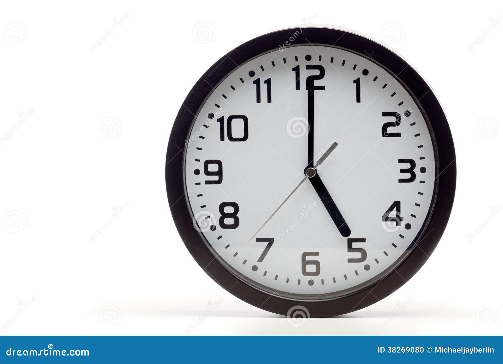 Svart parallell klocka