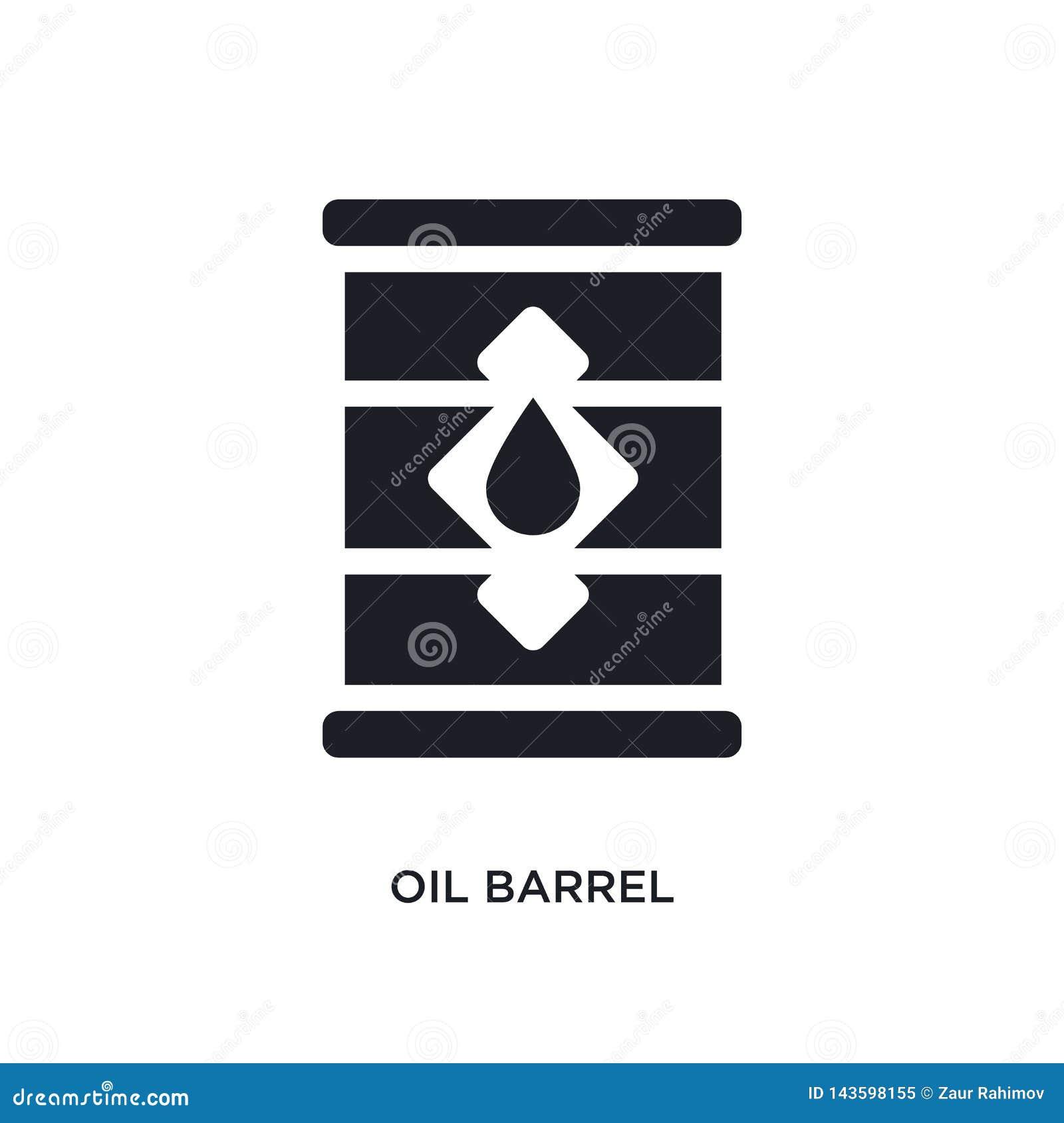 Svart symbol för vektor för oljatrumma isolerad enkel beståndsdelillustration från symboler för branschbegreppsvektor redigerbar