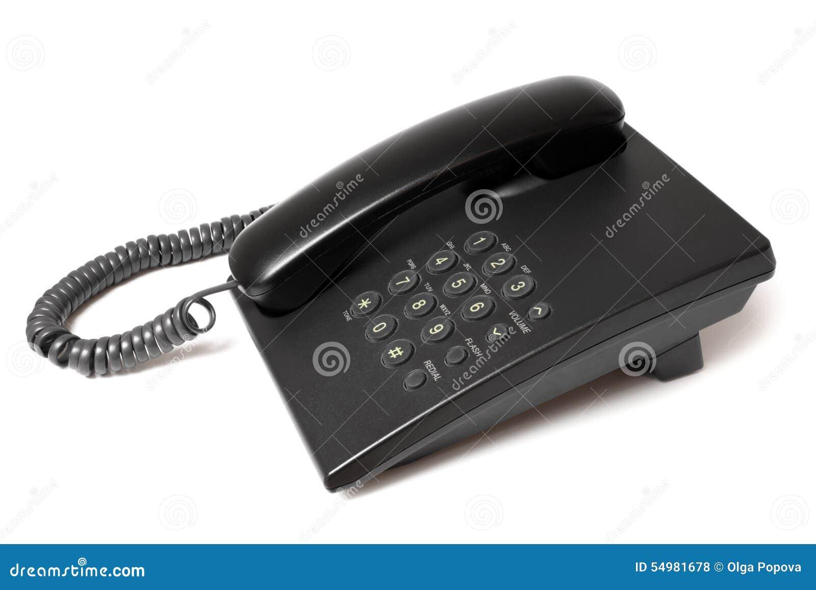 Svart telefon