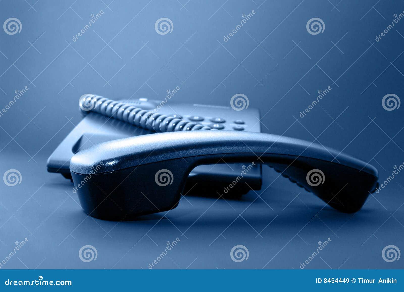 Svart telefonlurkontorstelefon