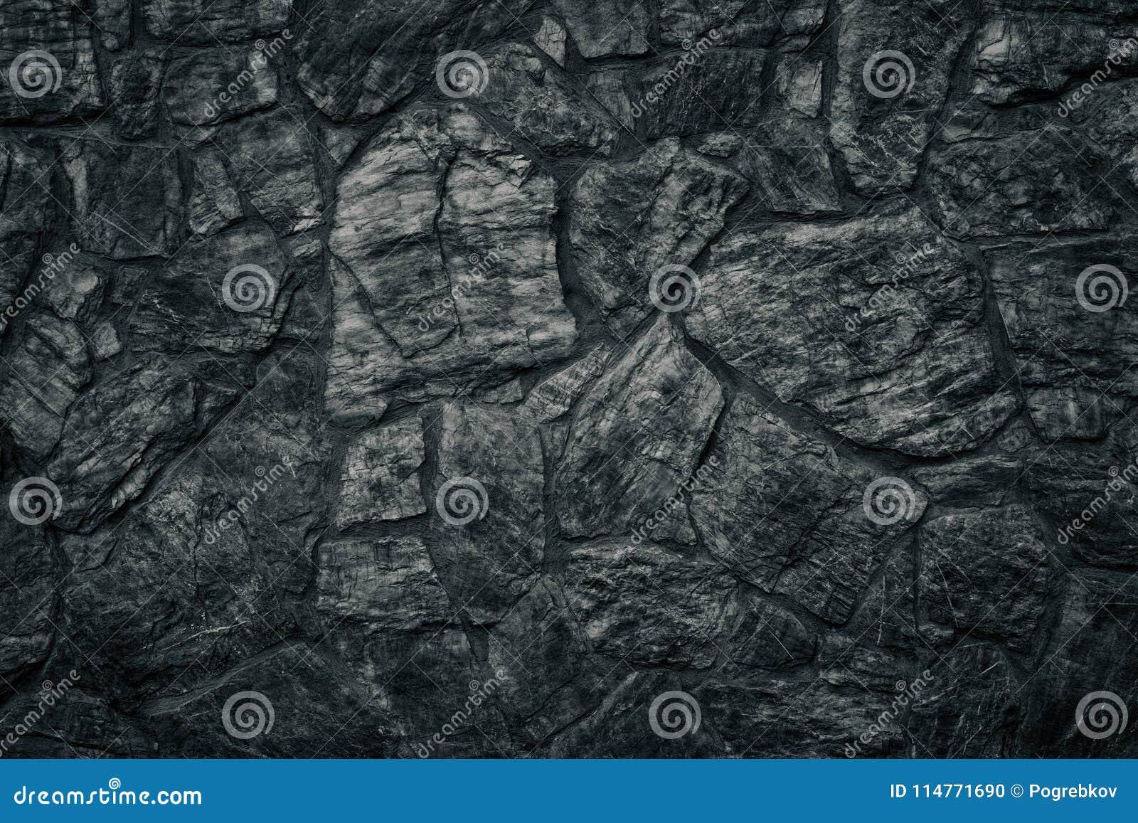 Svart textur för stenvägg som illavarslande gotisk bakgrund