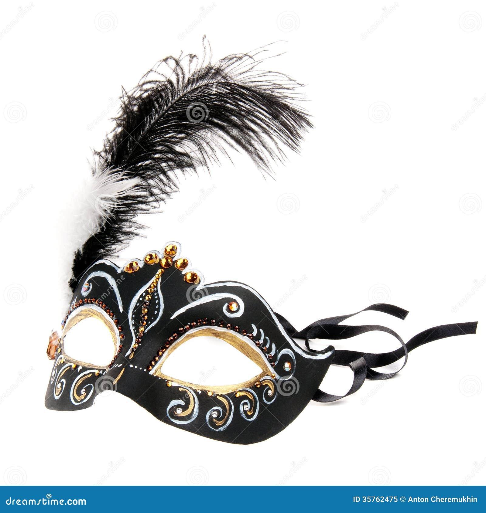 Svart Venedig maskering