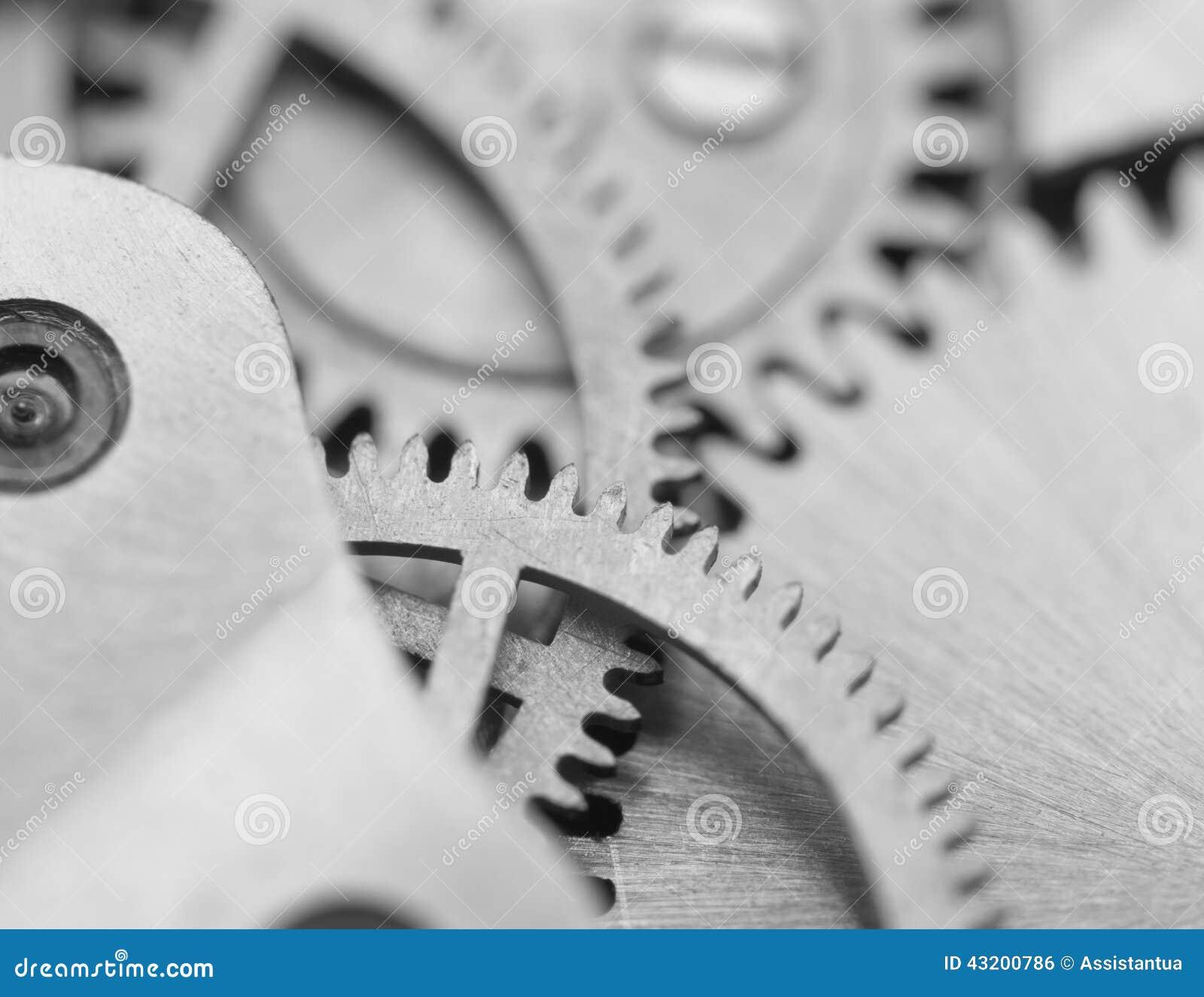 Download Svart Vit Bakgrund Med Metallkugghjulurverk Makro Arkivfoto - Bild av tillverkning, industri: 43200786