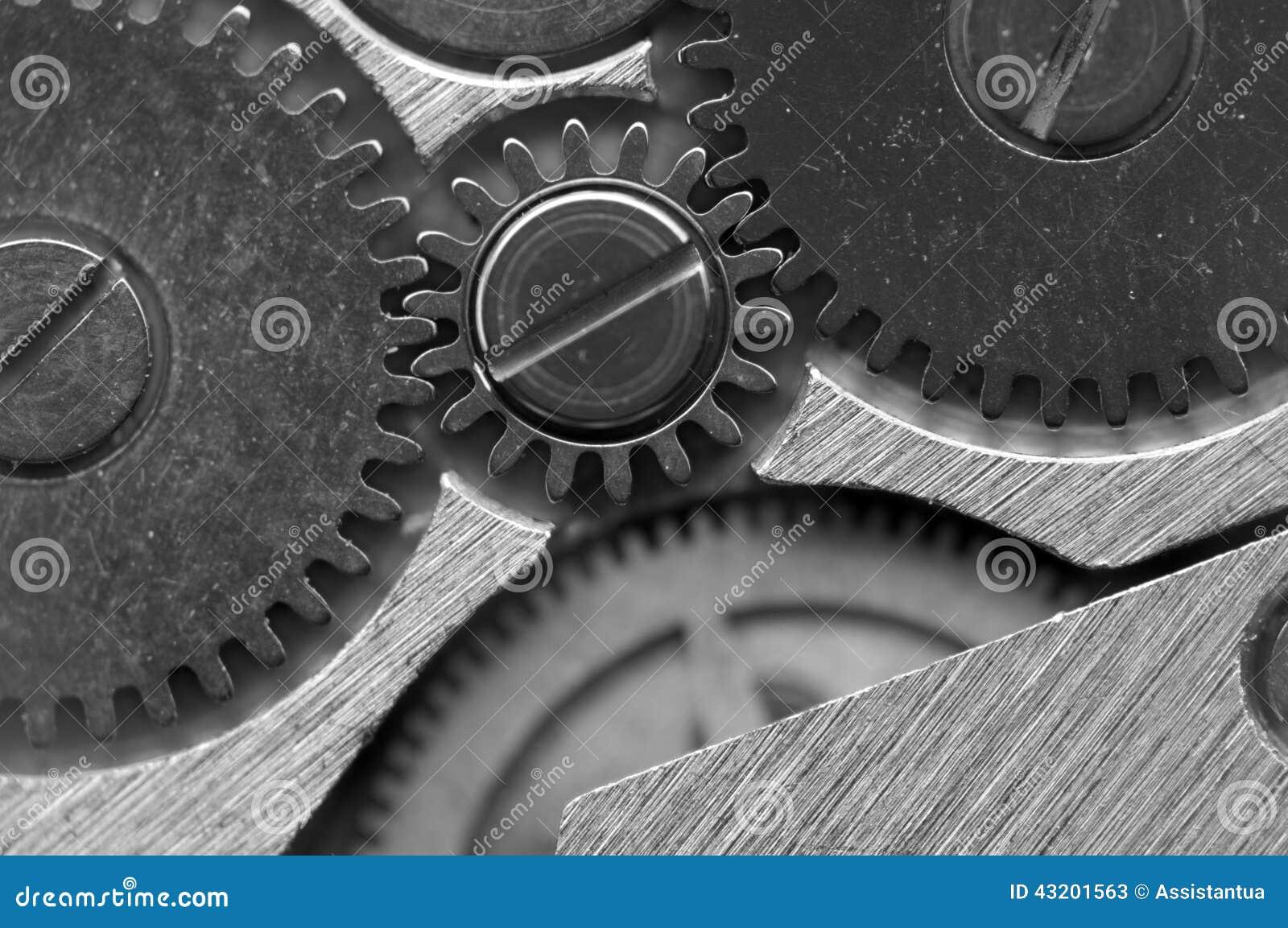 Download Svart Vit Metallisk Bakgrund Med Metallkugghjulurverk Fotografering för Bildbyråer - Bild av motor, cogwheels: 43201563