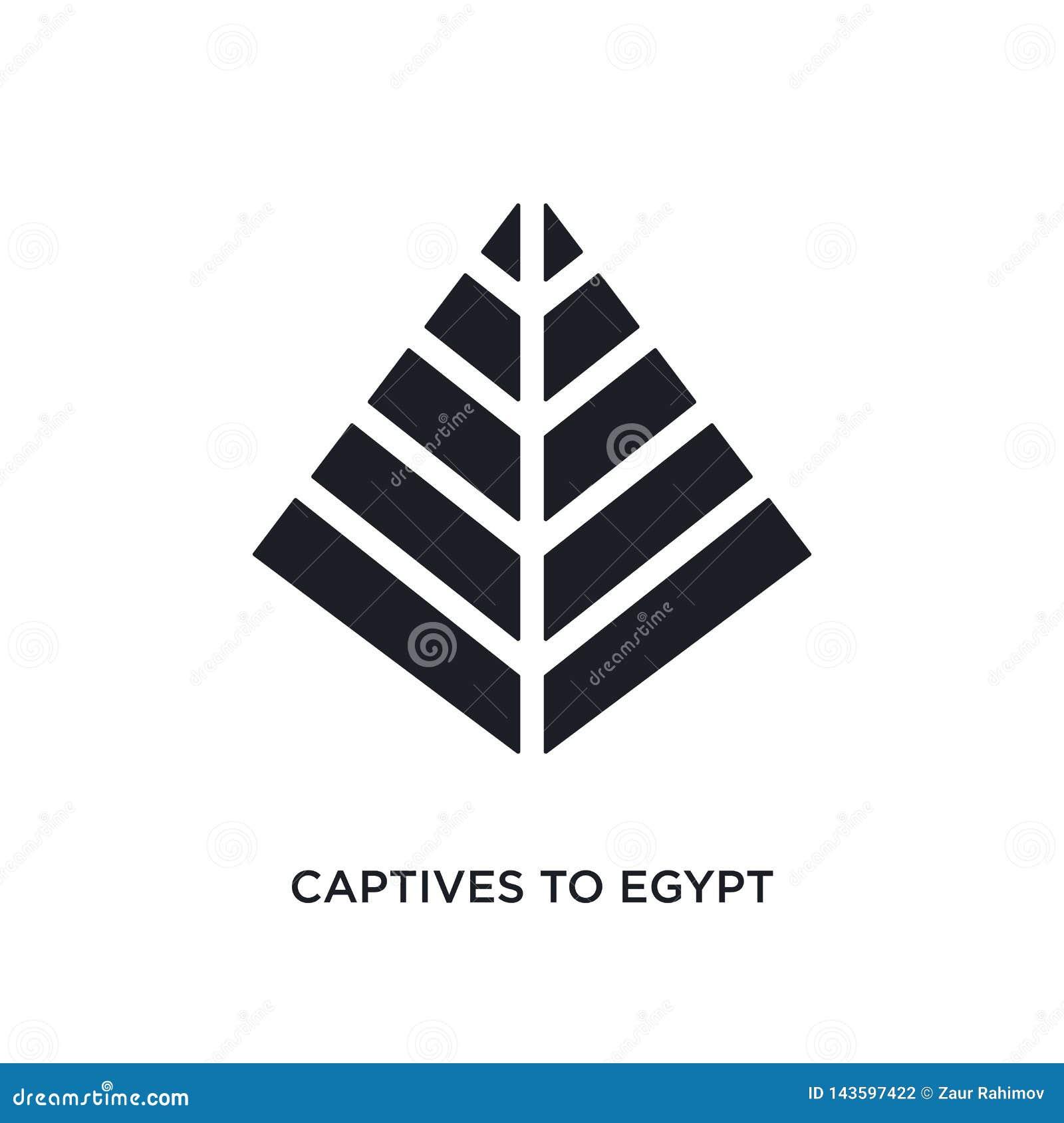 Svarta fången till Egypten isolerade vektorsymbolen enkel best?ndsdelillustration fr?n symboler f?r religionbegreppsvektor fången