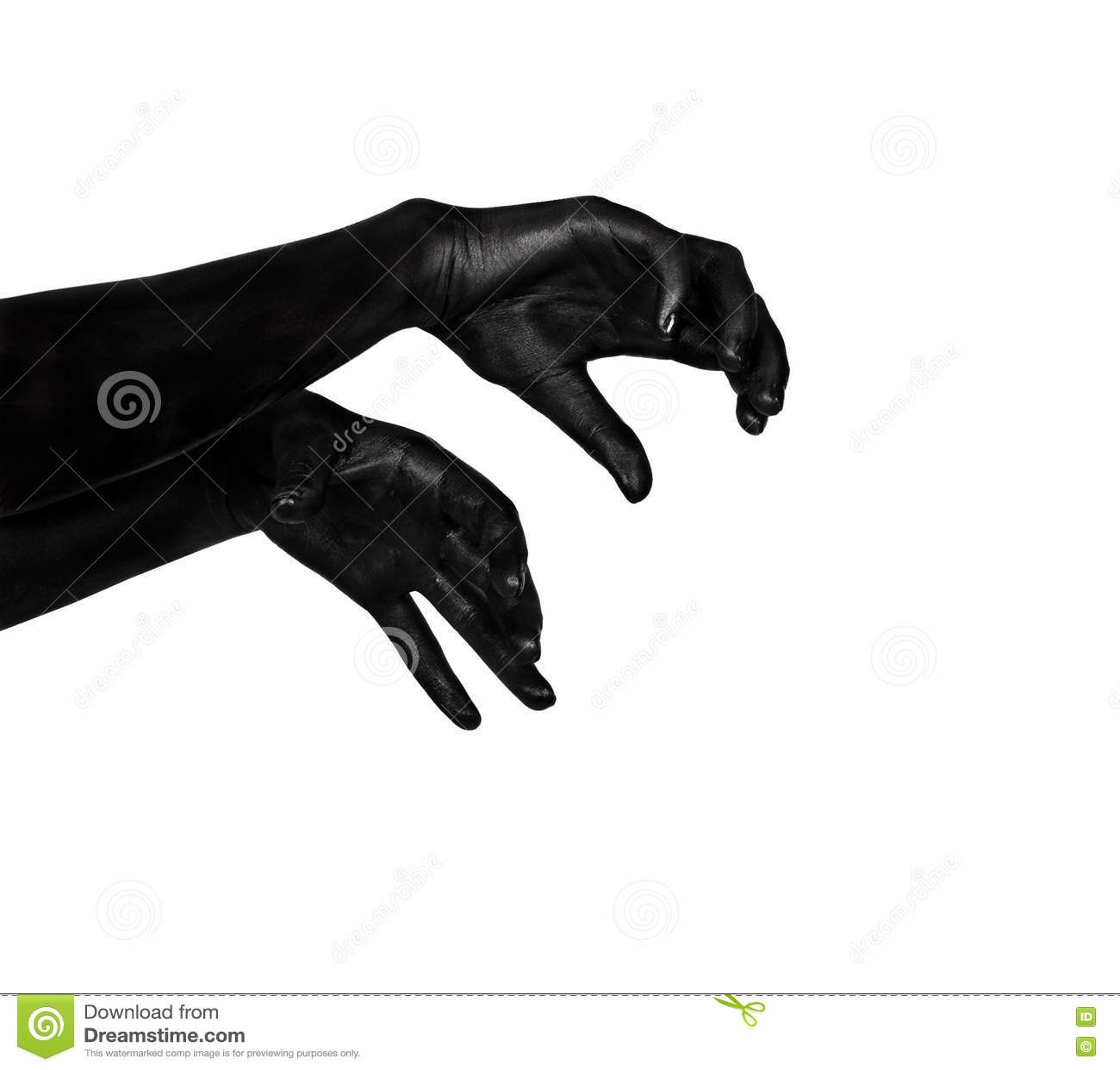Svarta händer Levande dödapokalyps