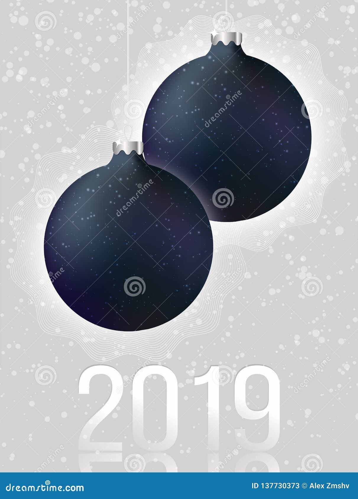 Svarta julbollar på ljust - grå bakgrund