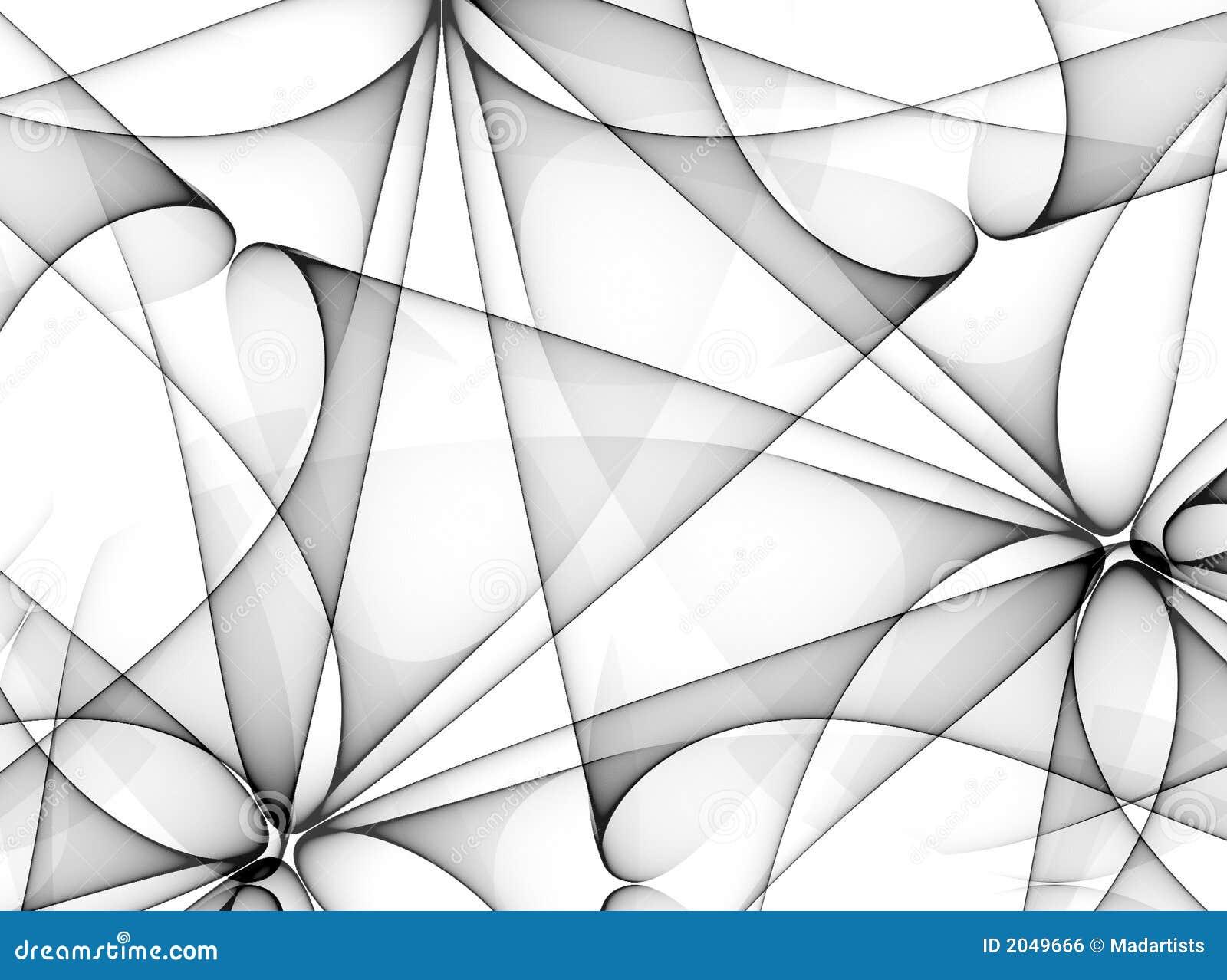 Svarta linjer mönsan white