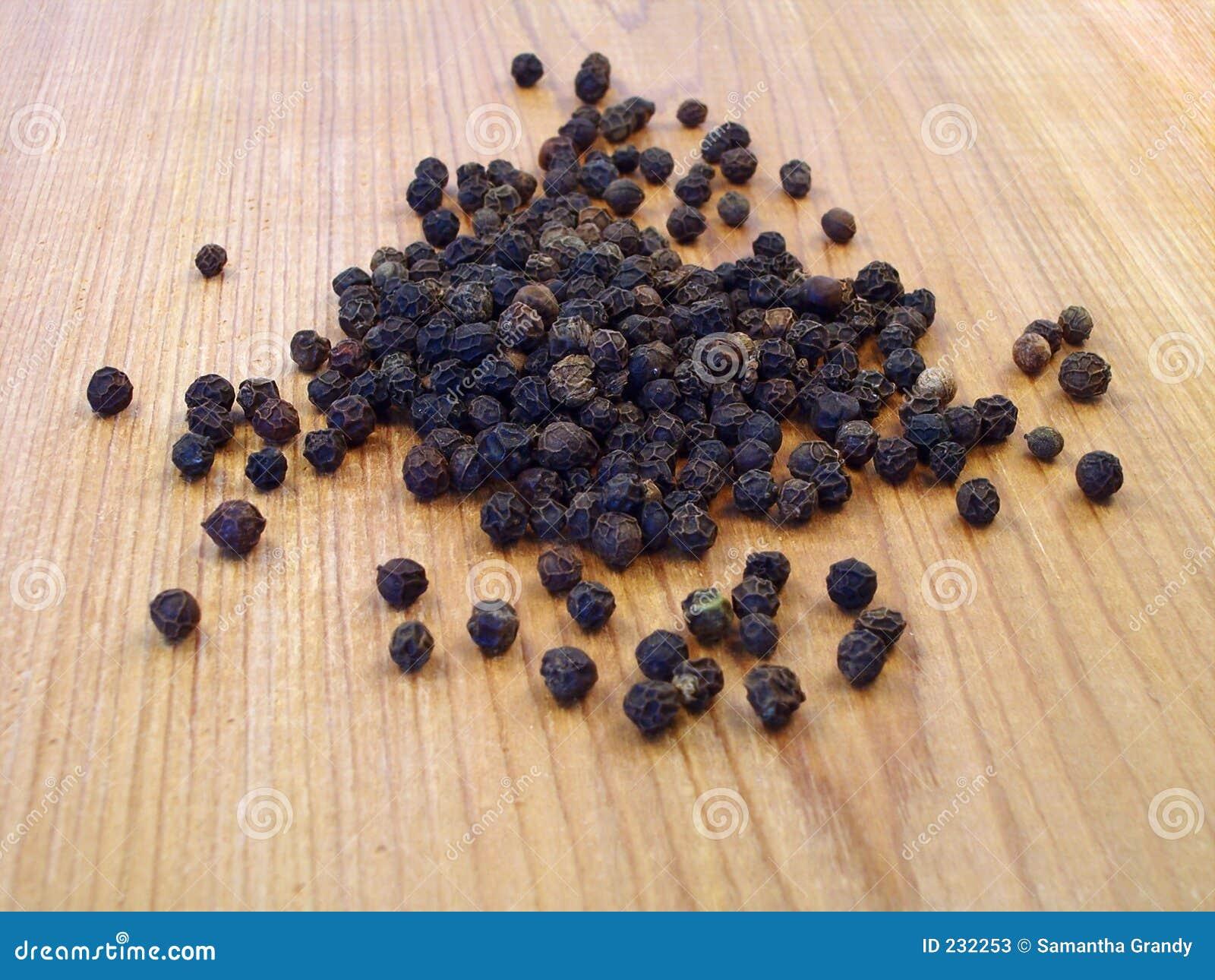 Svarta peppercorns