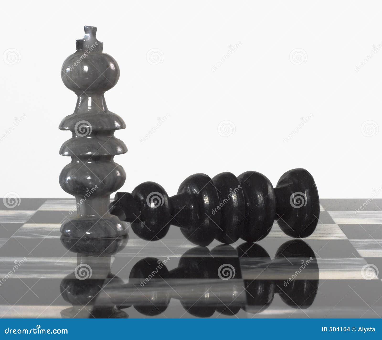 Svarta schackstycken avgår till white