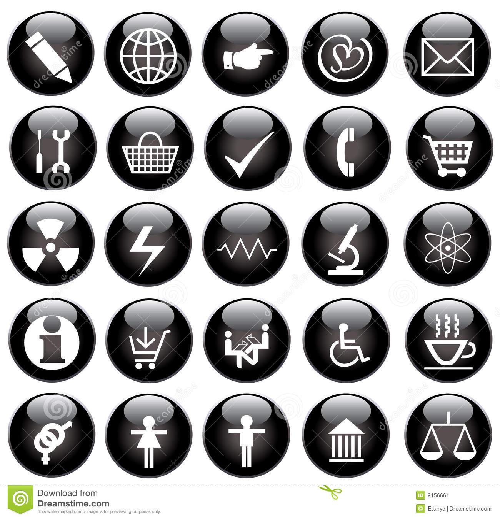 Svarta symboler ställde in vektorrengöringsduk