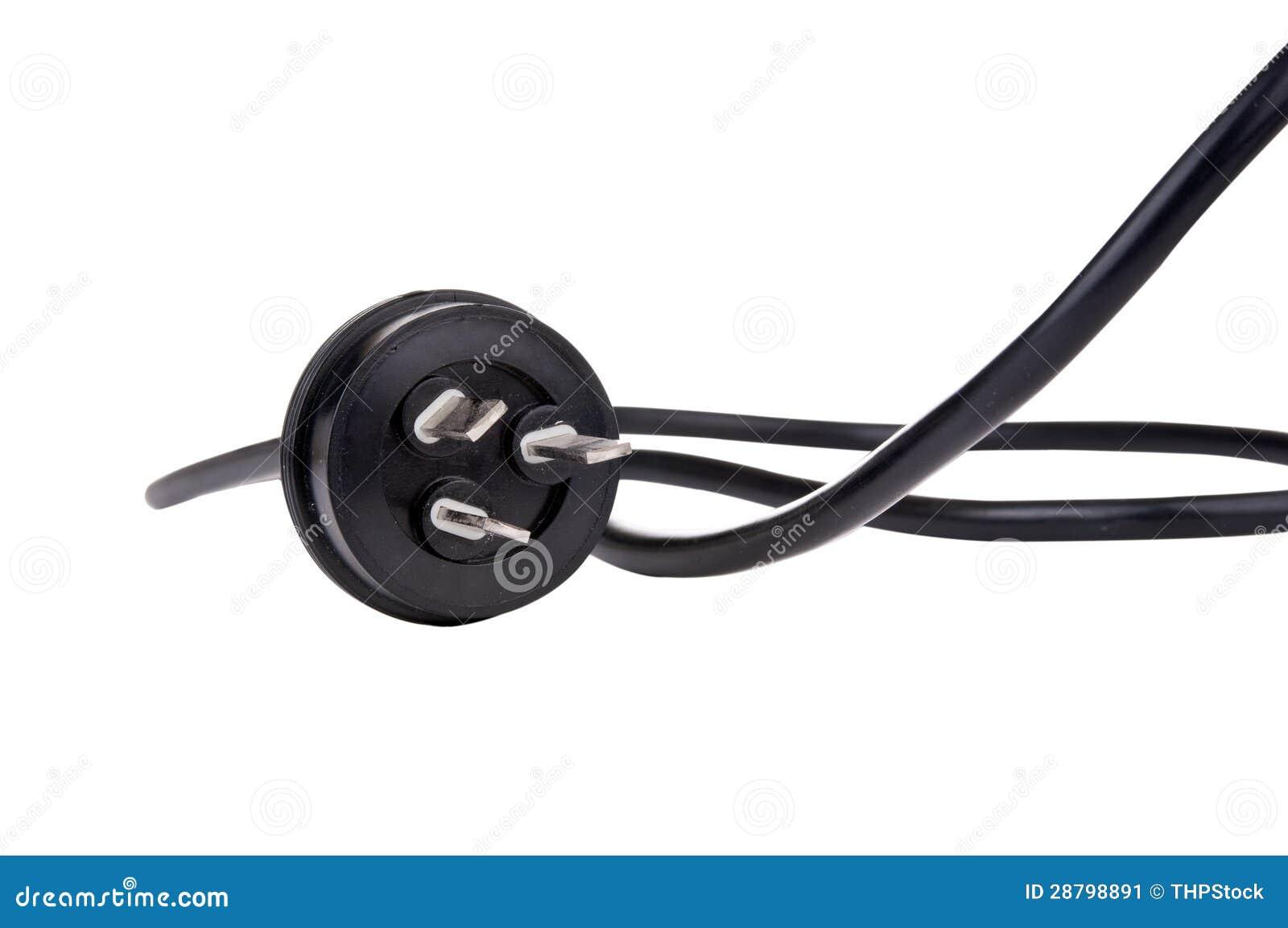 Svarten binder med rep pluggar
