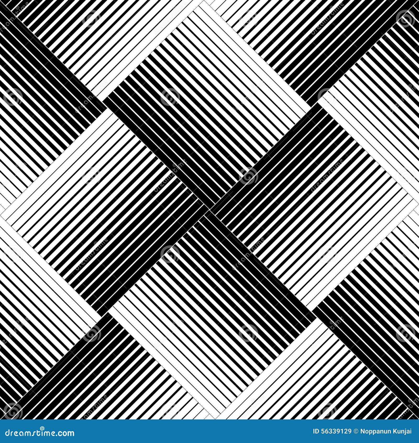 Svartvit geometrisk sömlös modell med linje, abstrakt b