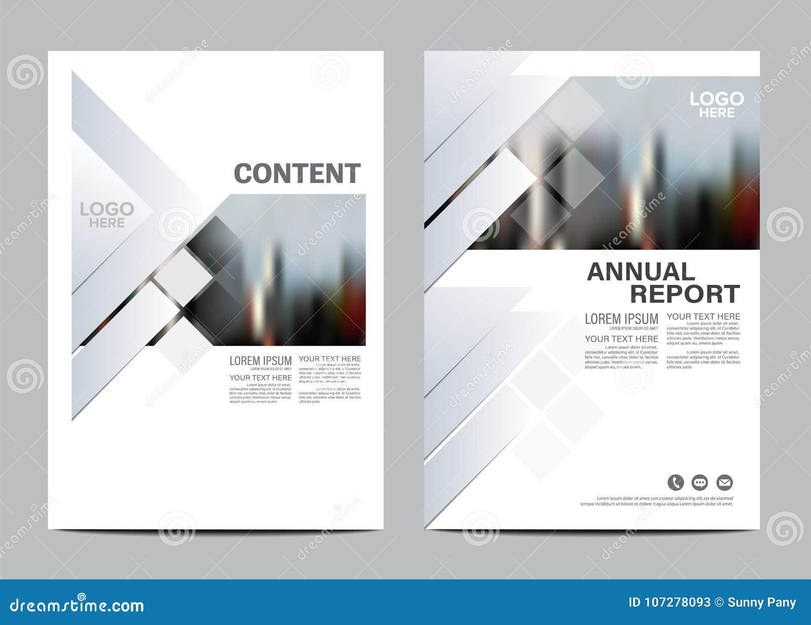 Svartvit mall för broschyrorienteringsdesign Bakgrund för presentation för räkning för årsrapportreklambladbroschyr modern
