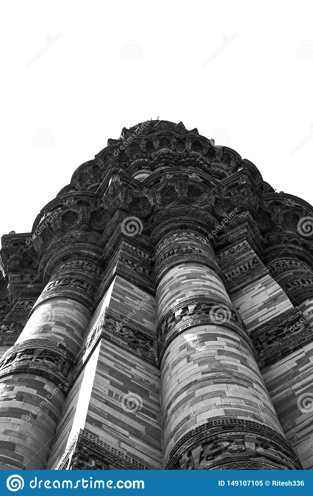 Svartvit monumentindi