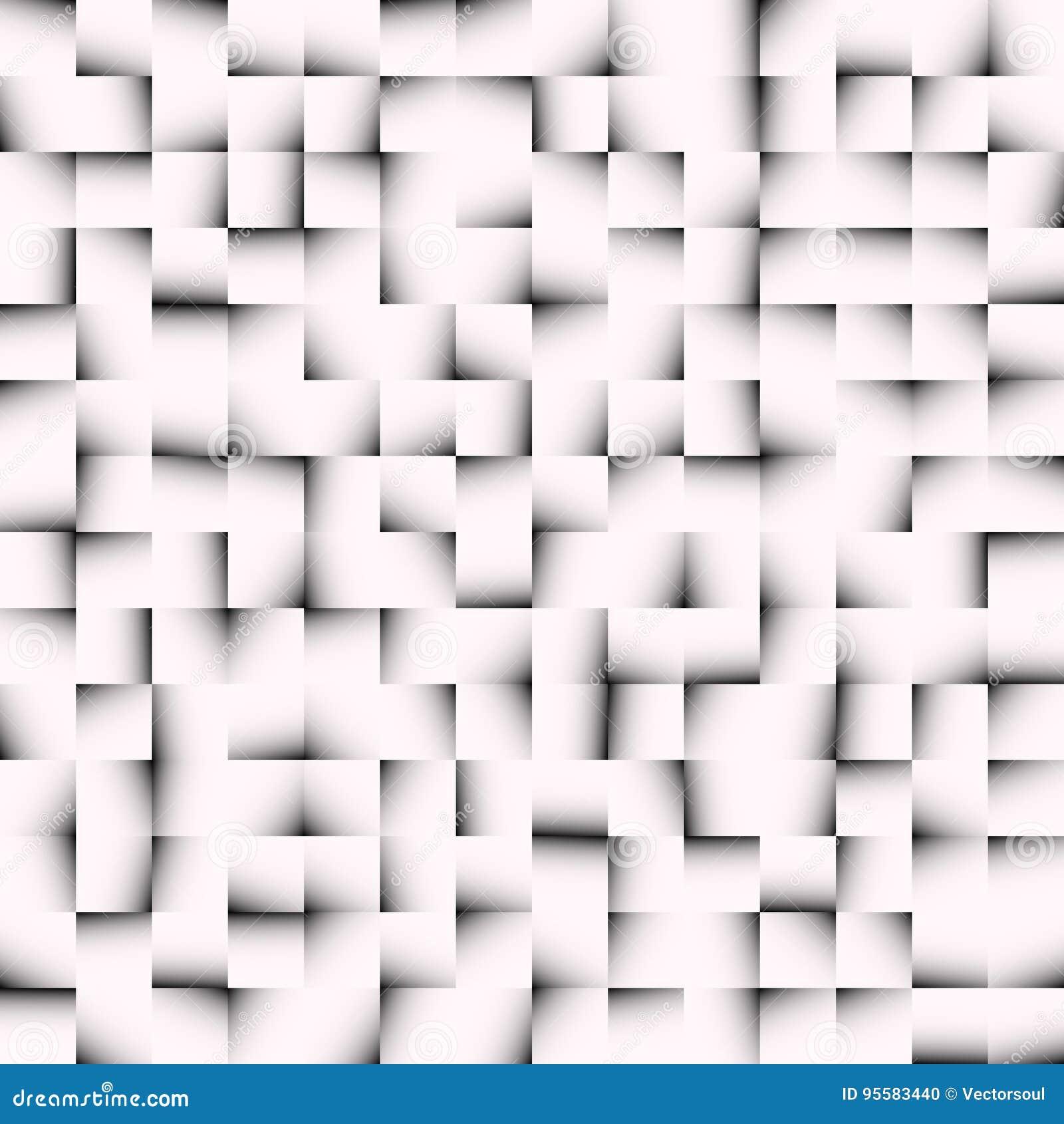 Svartvit mosaiktextur, mosaikmodell Sömlöst repea