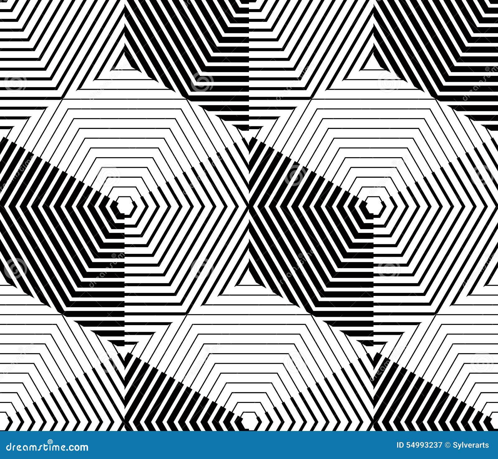 Svartvit symmetrisk sömlös modell för kontrast