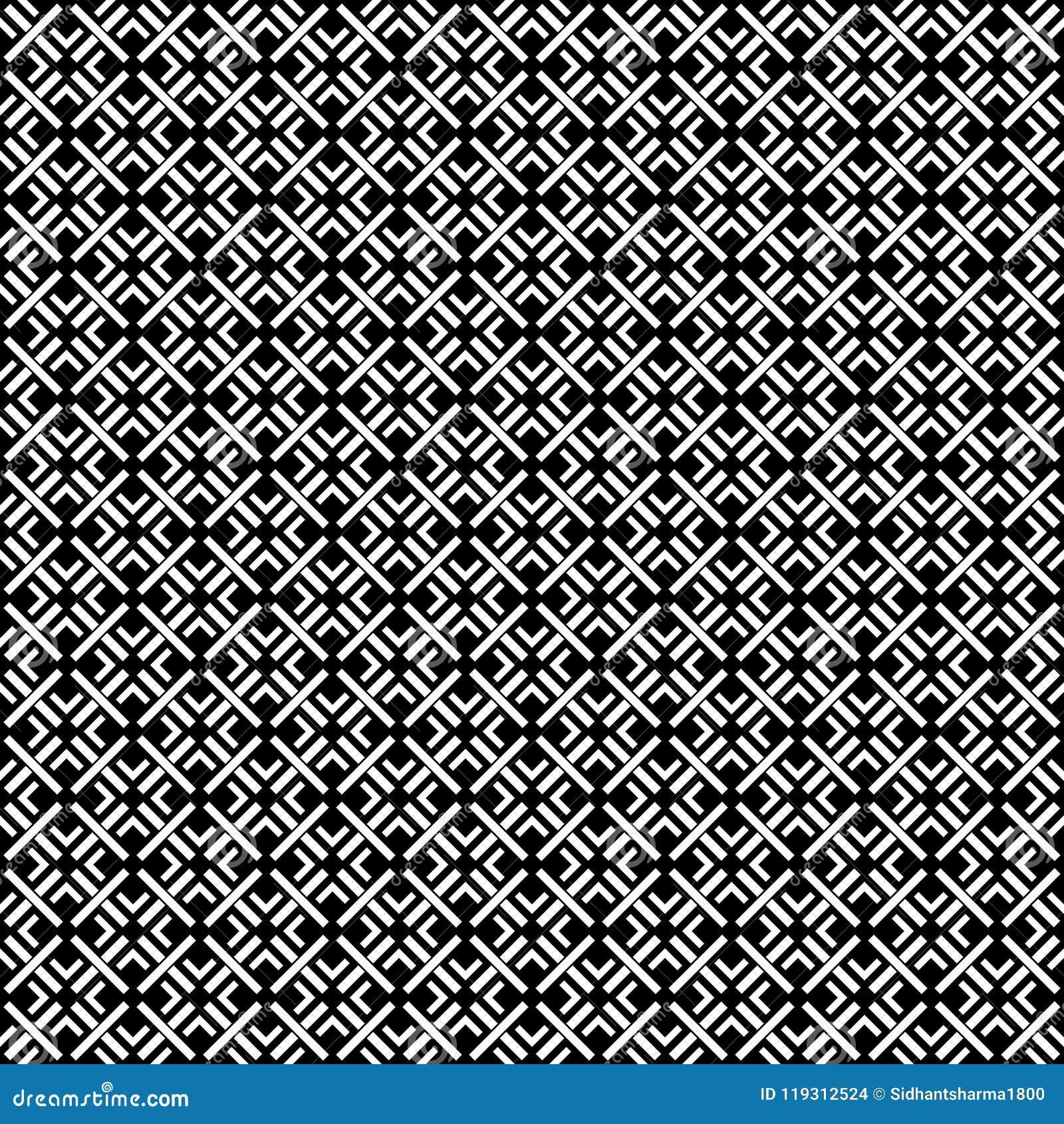 Svartvitt SÖMLÖST GEOMETRISKT SMATTRANDE, BAKGRUNDSDESIGN abstrakt bakgrund Upprepa och redigerbart Kan användas för tryck
