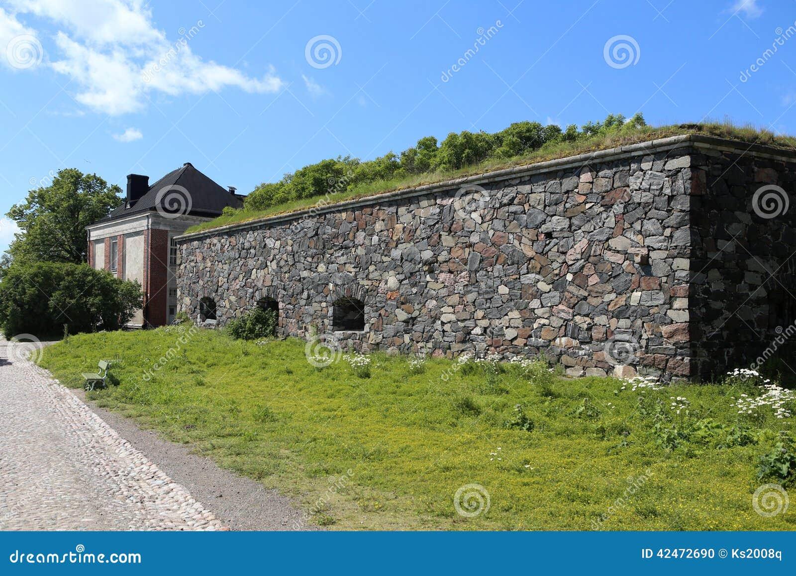Sveaborg-Schlosswand auf der der Suomenlinna-Inseln in Helsinki, Finnland