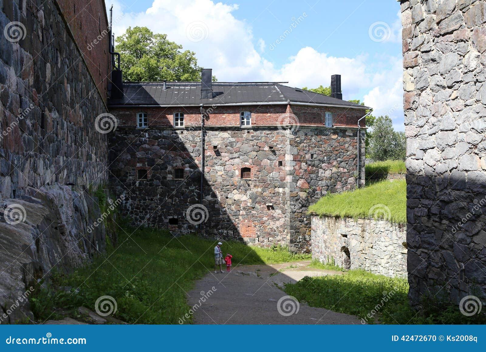 Sveaborg-Schlosswand auf der des Suomenlinnas