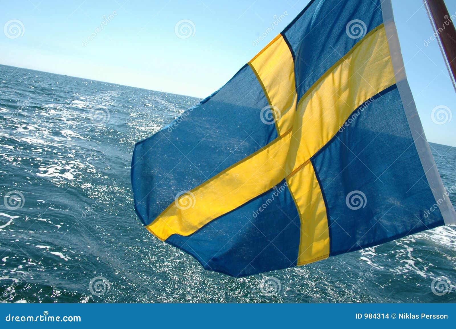 Svensk för öppet hav för flagga