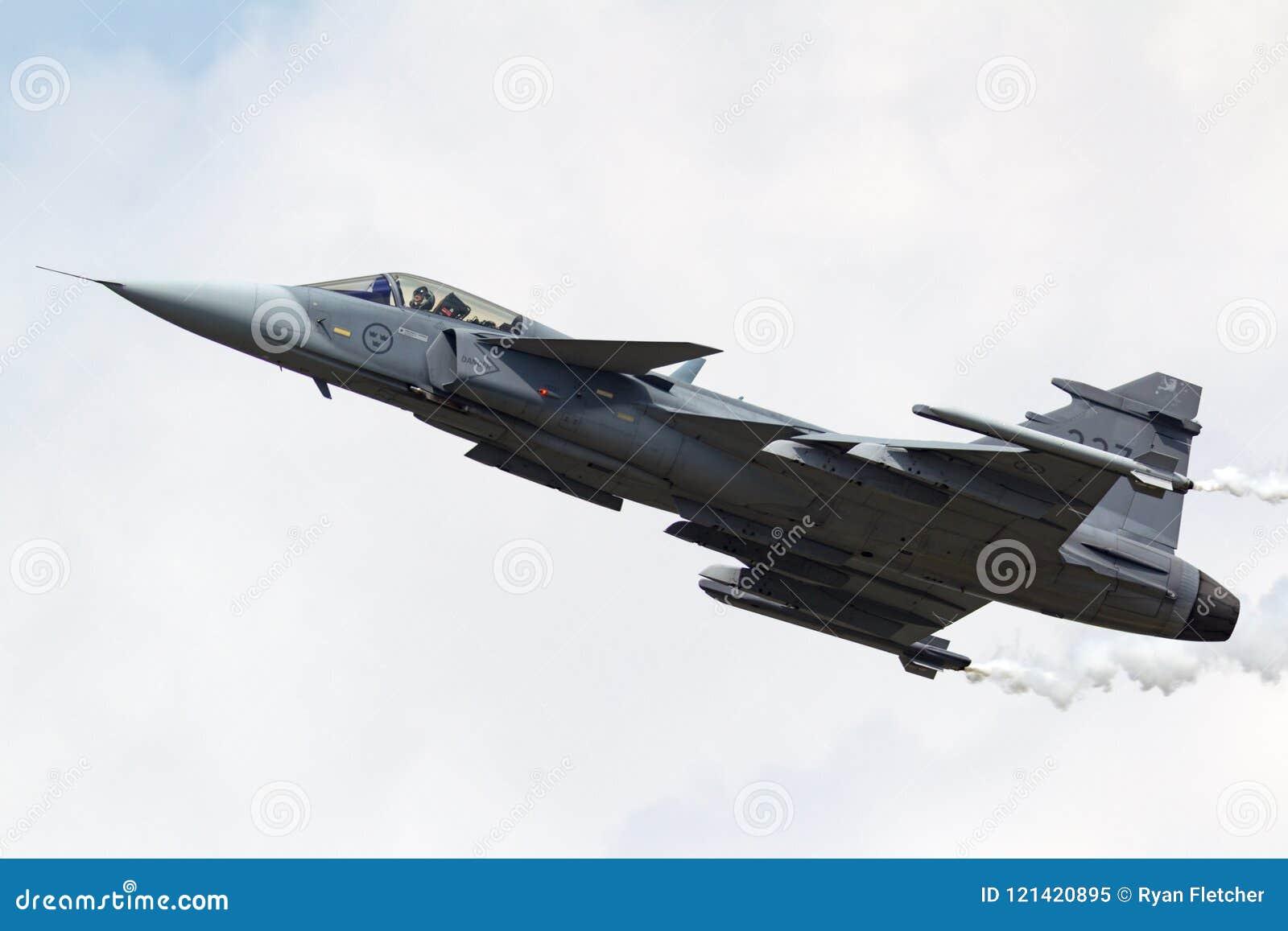 Svenskt flygplan för flygvapenSaab JAS-39C Gripen multirole kämpe 39227