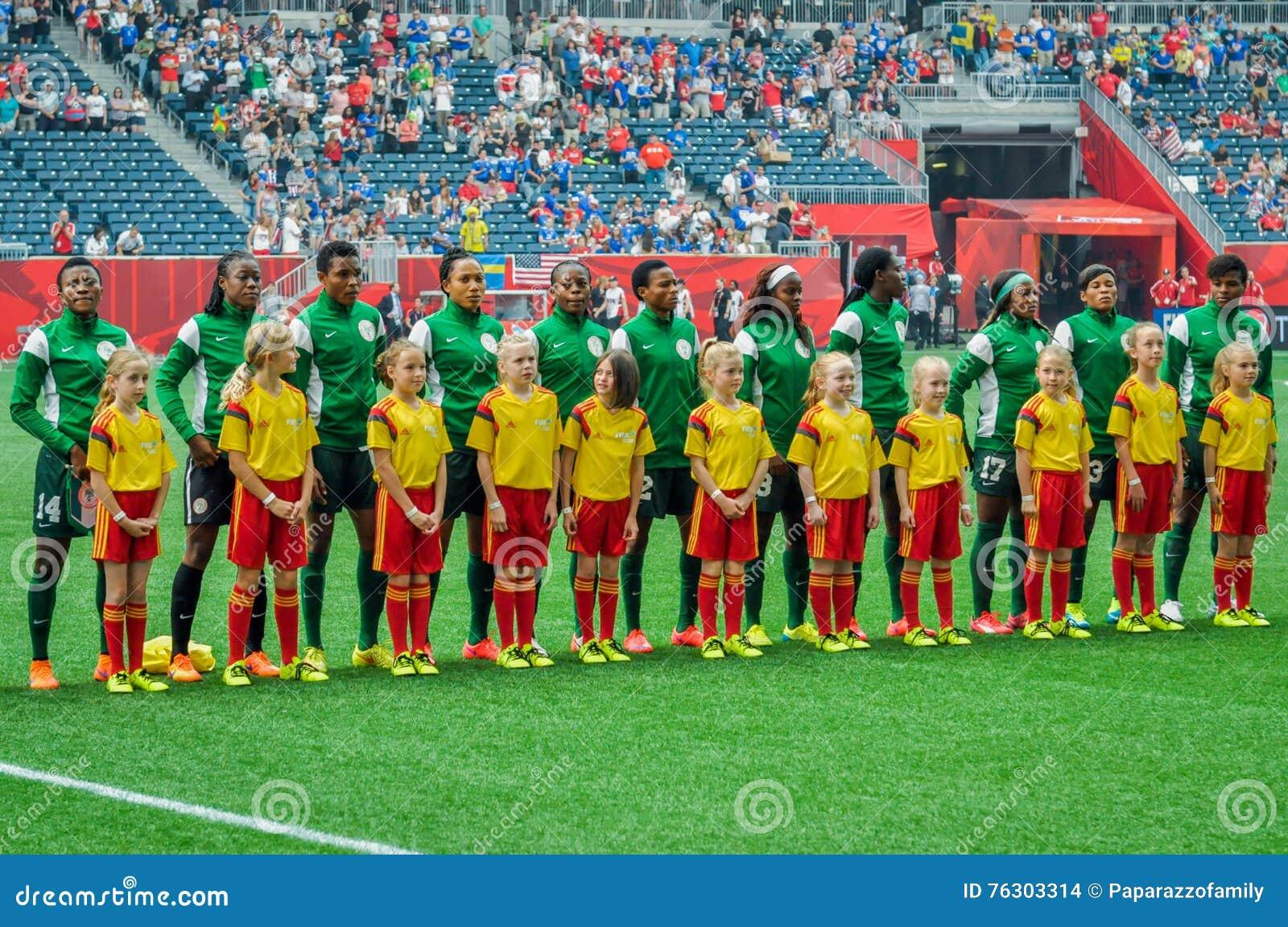 Sverige vs Nigeria landslag FIFA Women's världscup