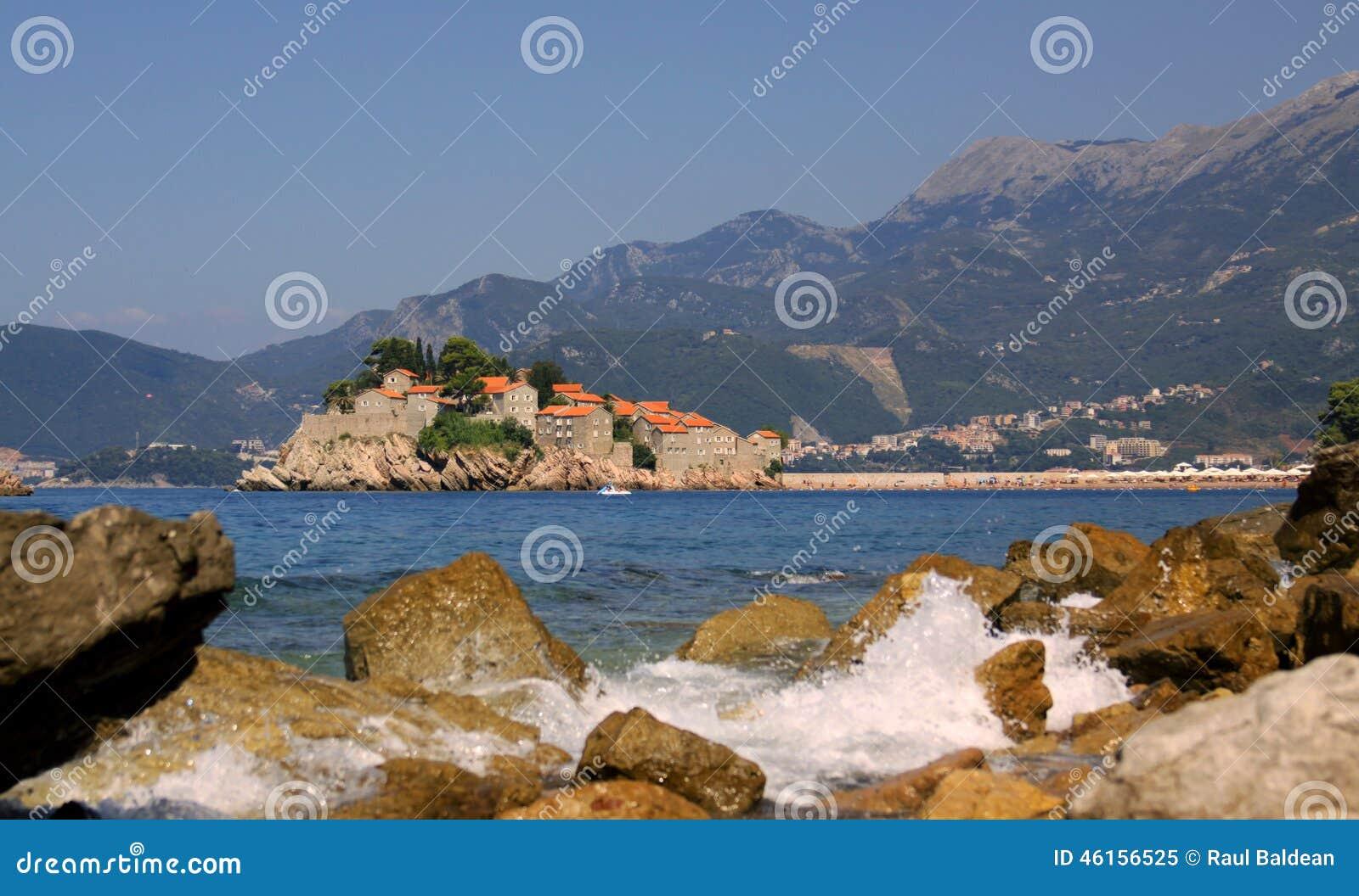 Sveti Stefan islet perspective, Montenegro