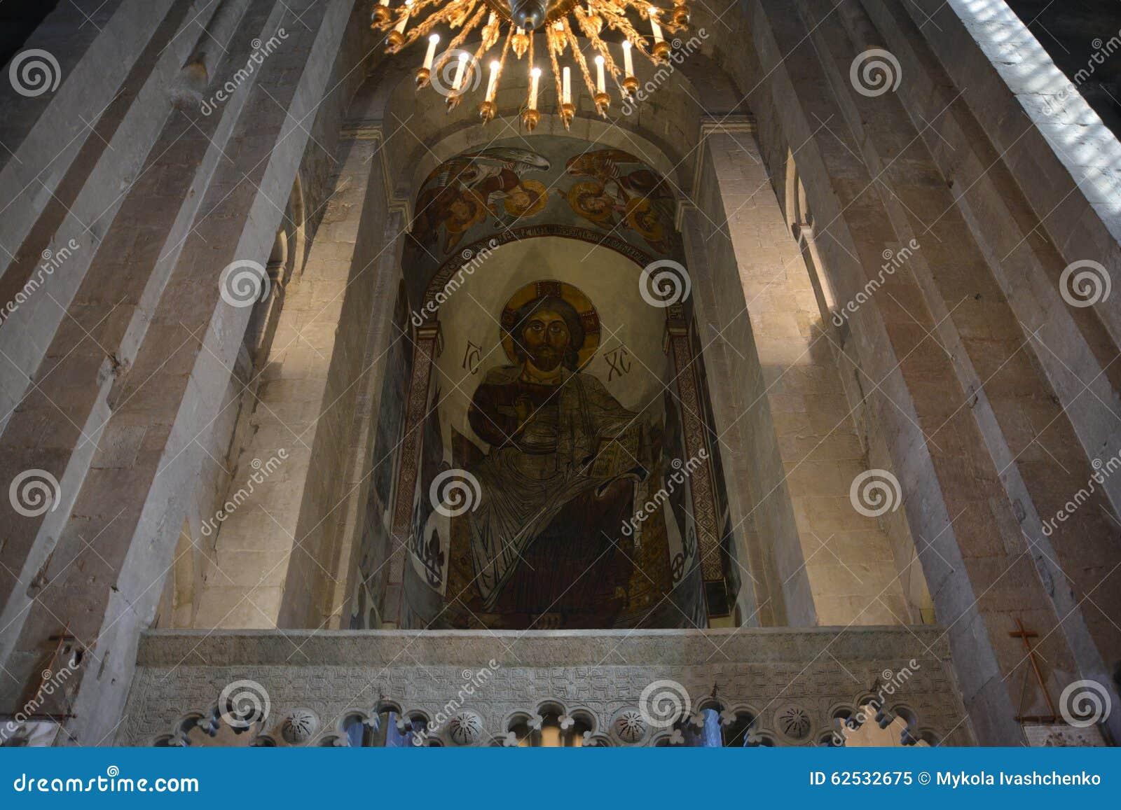 Svetitskhoveli大教堂内部视图